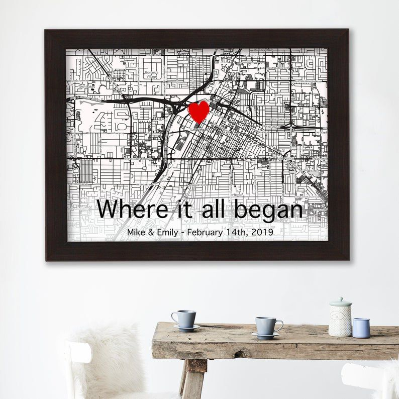 Our First Date Printable Custom City Map