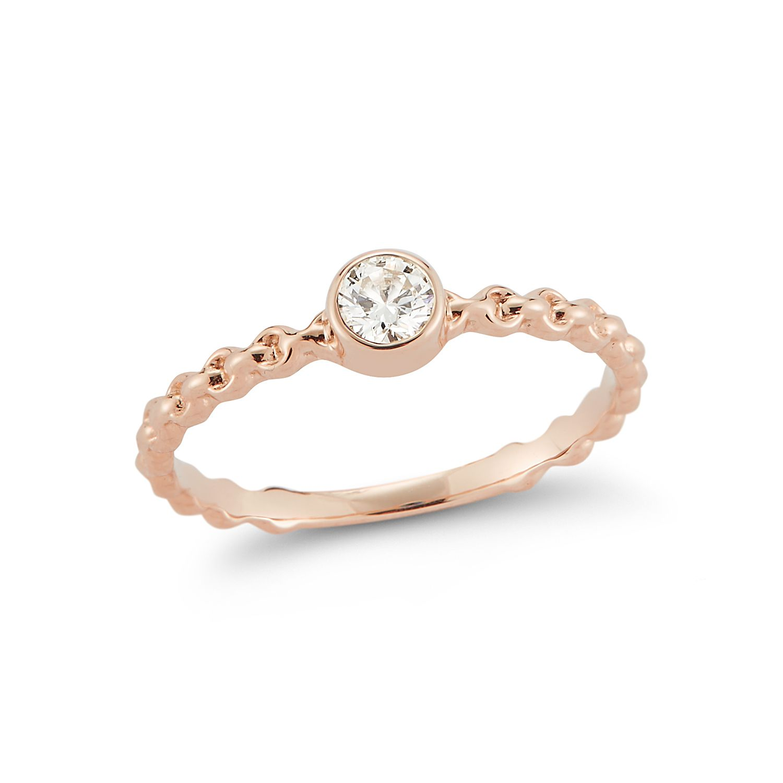 Barbela Design Diamond Nico Ring in Rose Gold