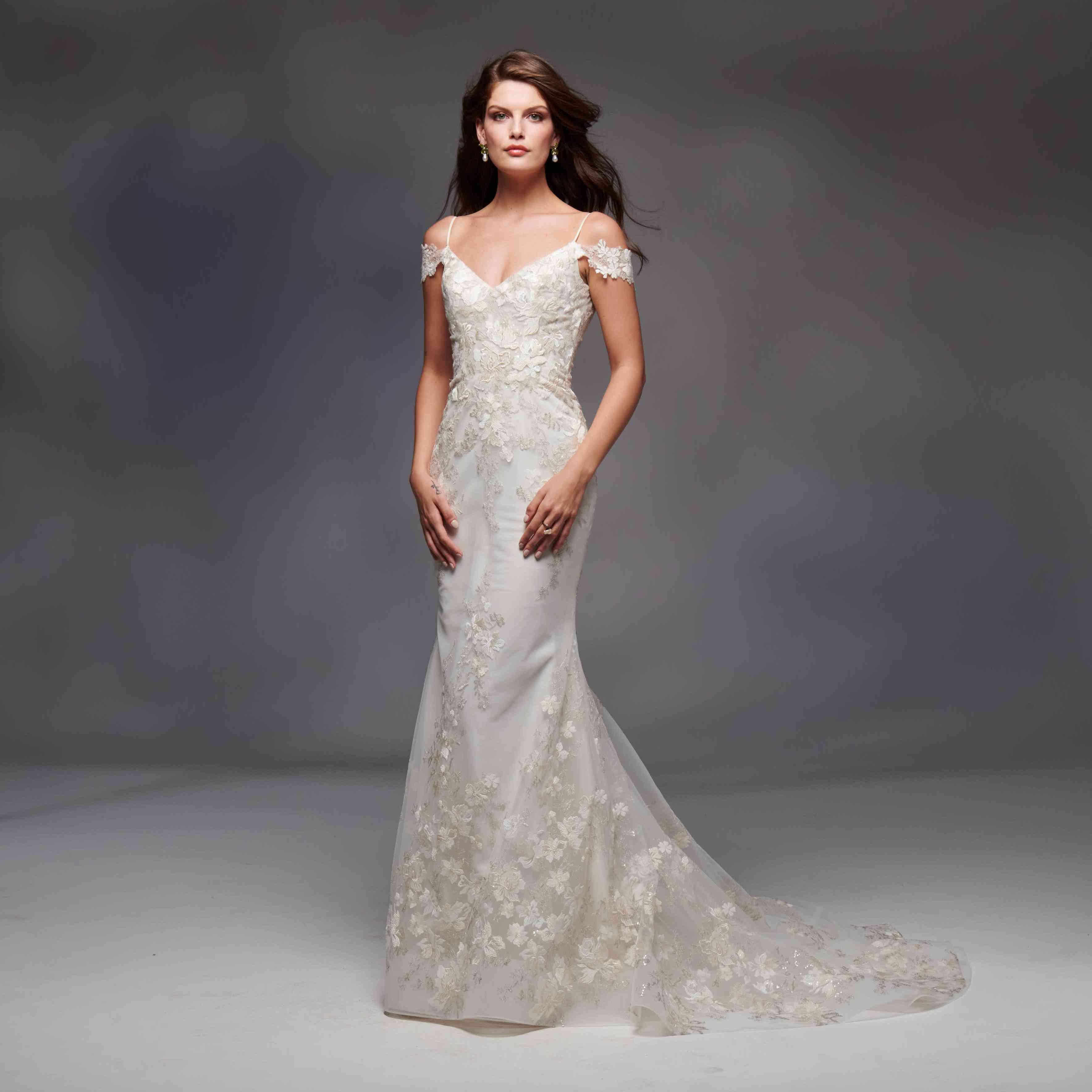 Alexandria off-the-shoulder wedding dress
