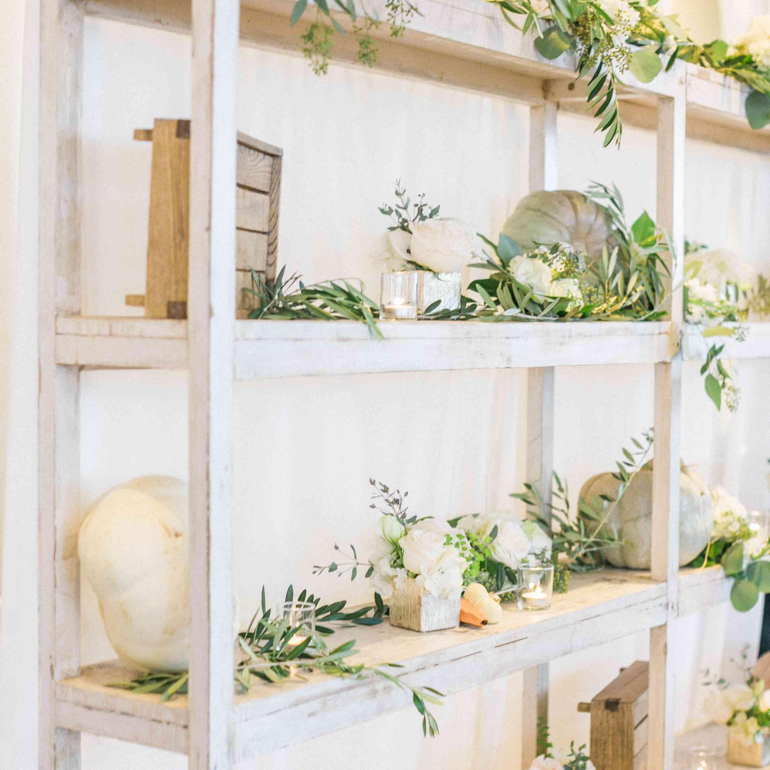 Fall decor shelves