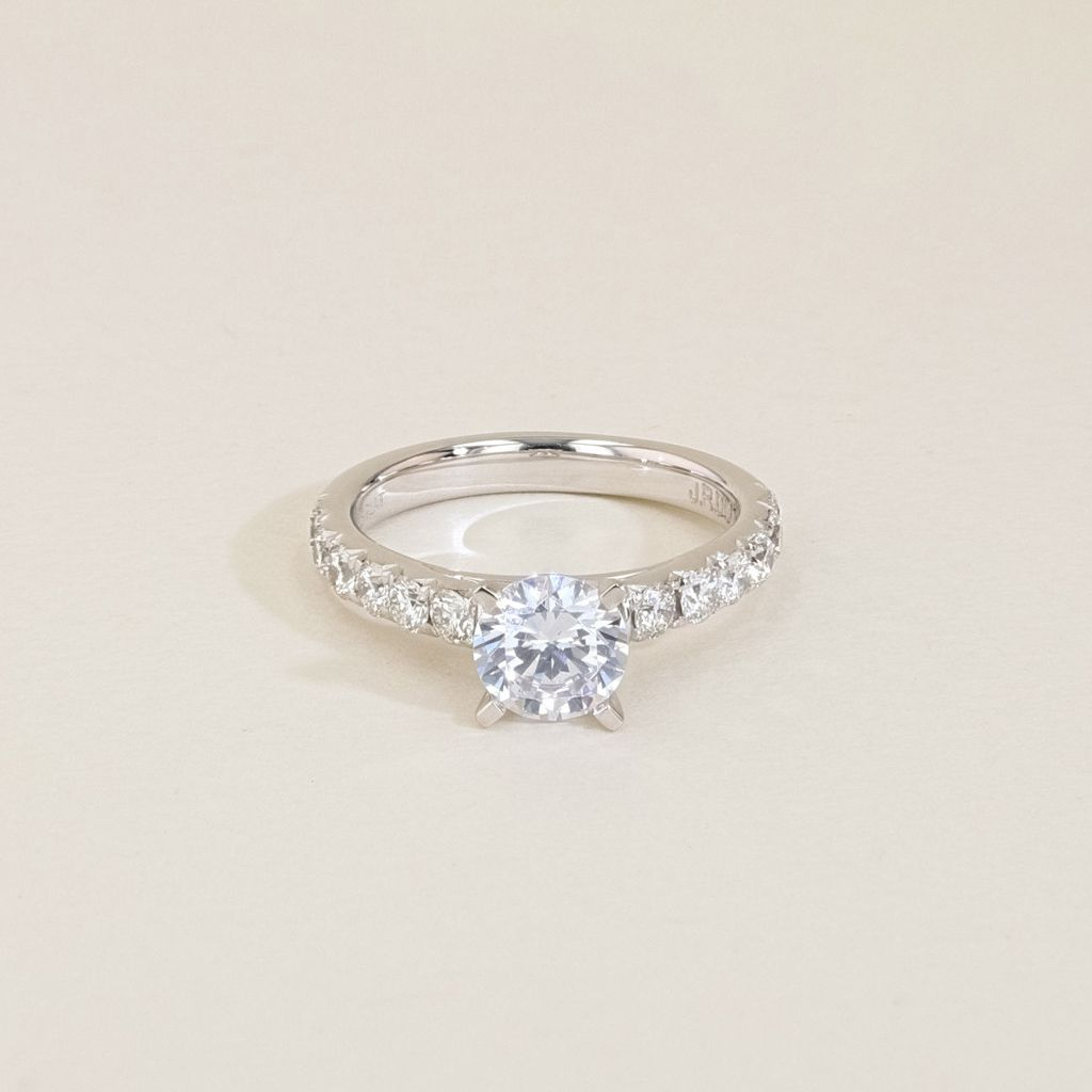 J.R. Dunn The Round Cathedral Engagement Ring