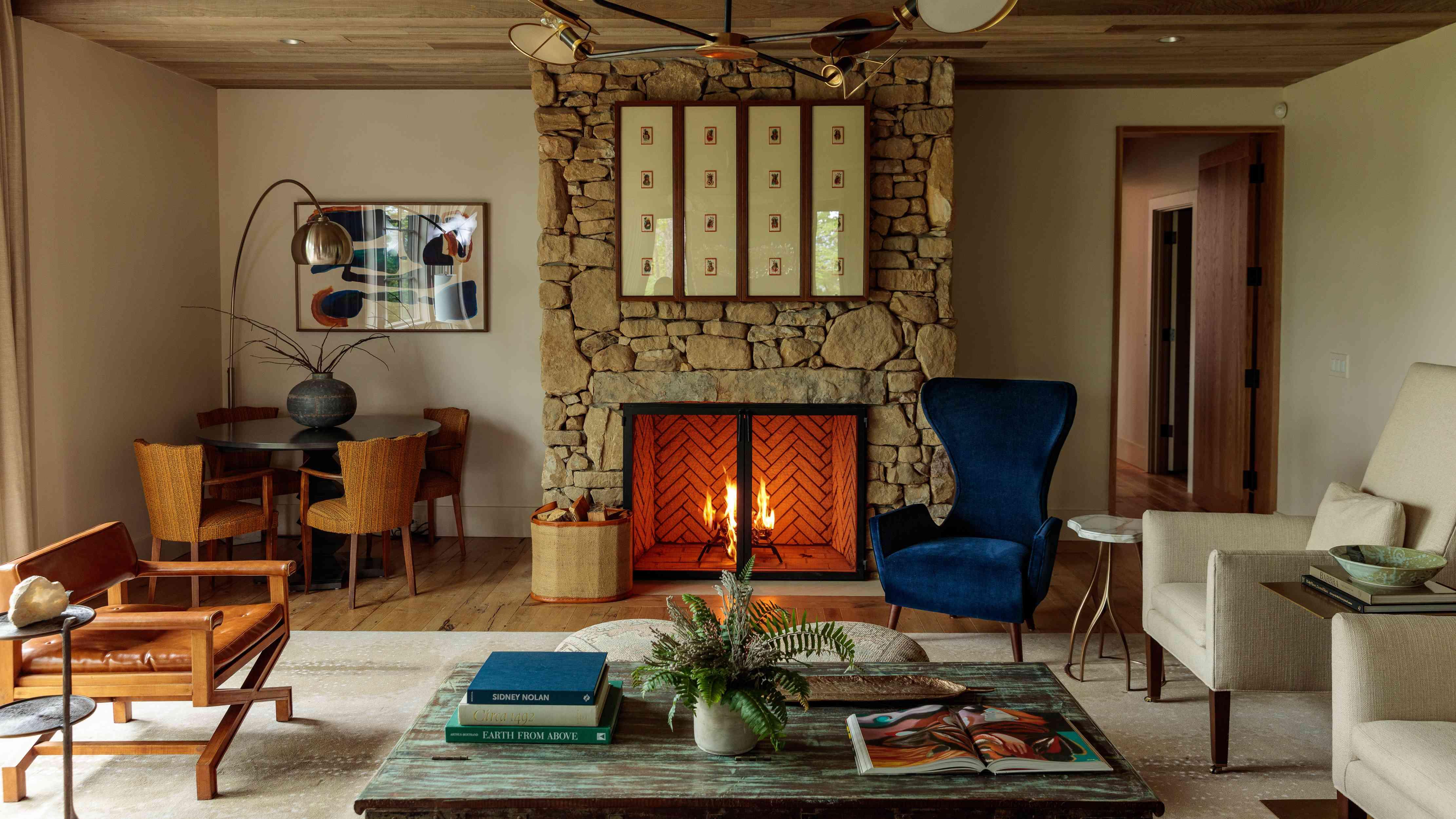 hotel room fireplace