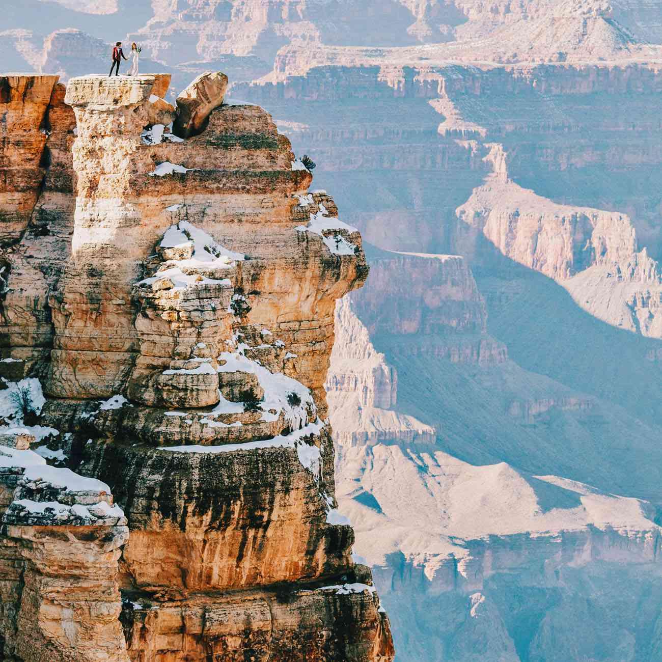 Wedding photo at the Grand Canyon