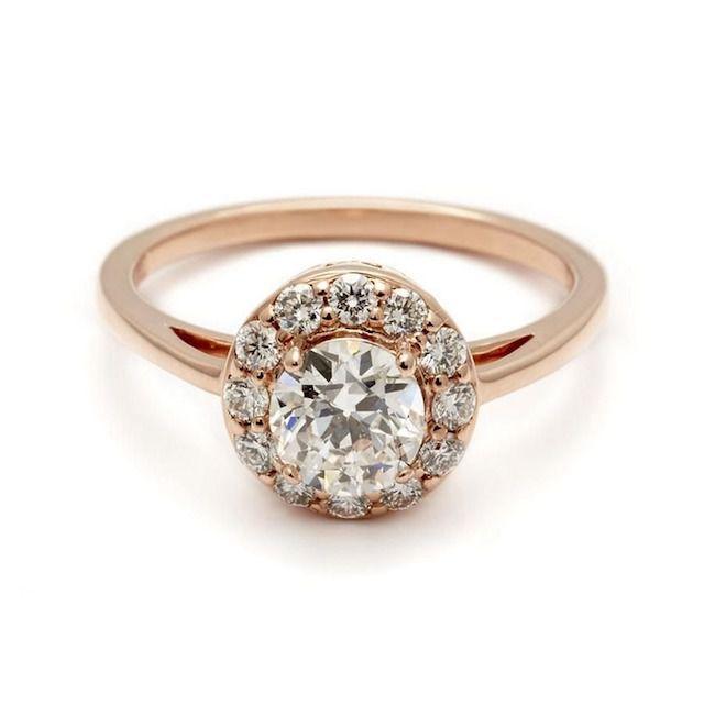 Round Grand Halo Rosette Ring