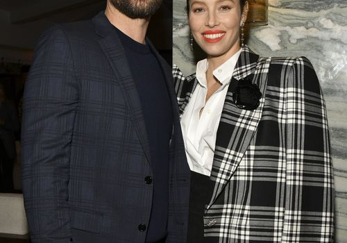 Justin Timberlake and Jessica Biel at an event