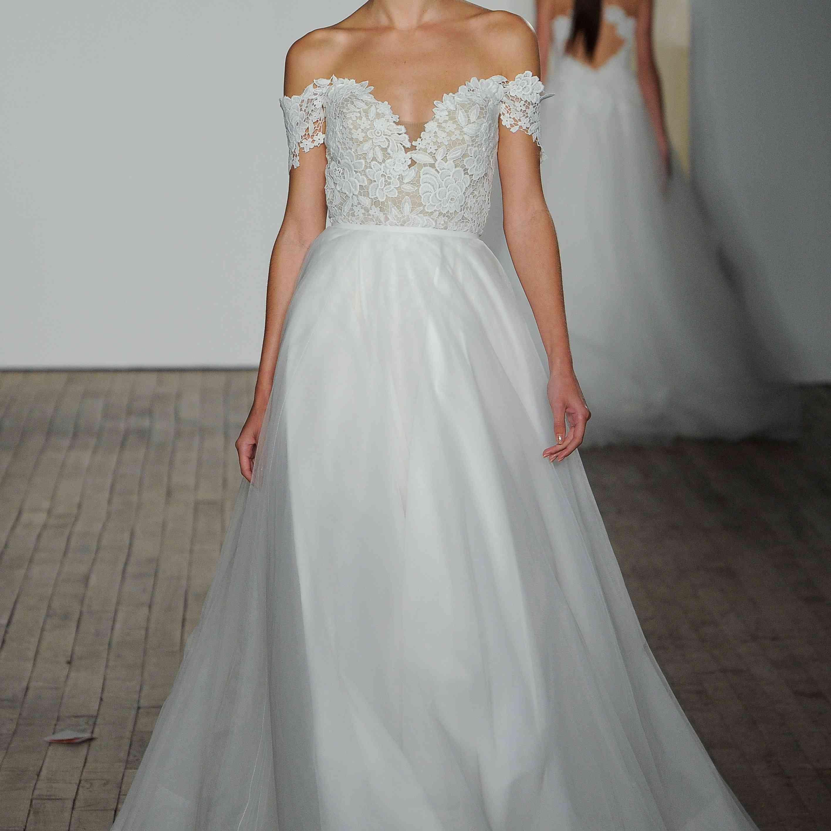 Jojo off-the-shoulder wedding dress