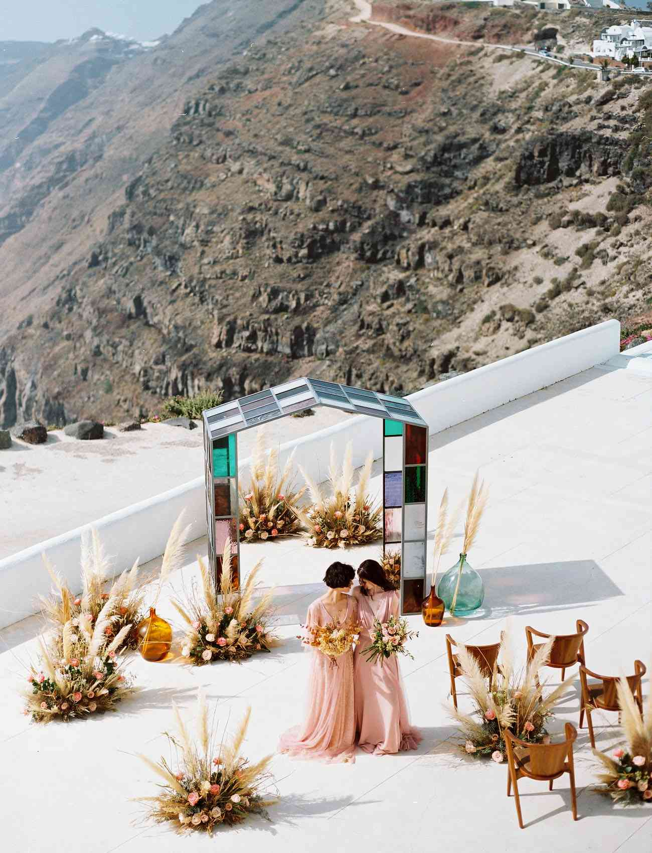 Wedding ceremony on a mountain