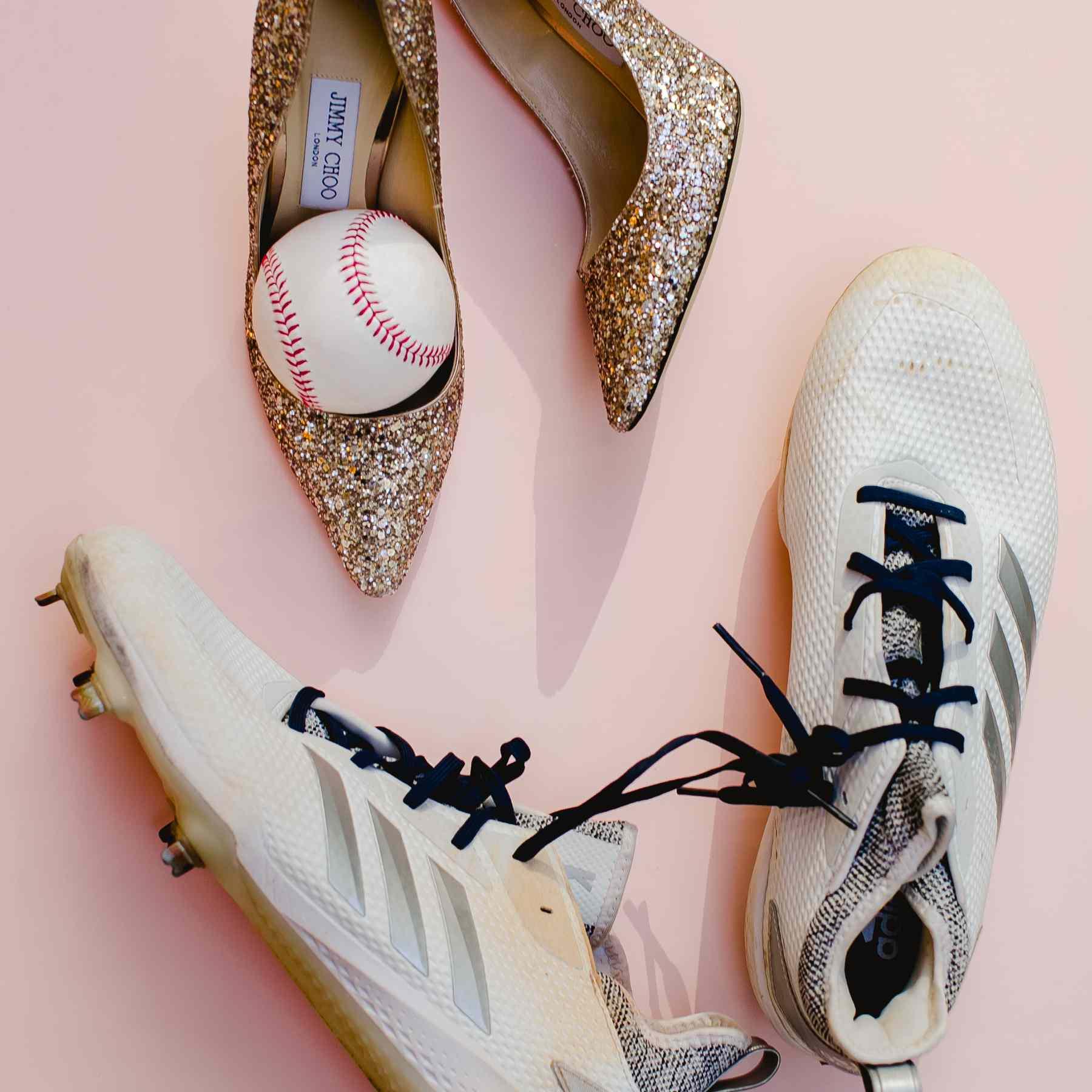 Brides shoes baseball