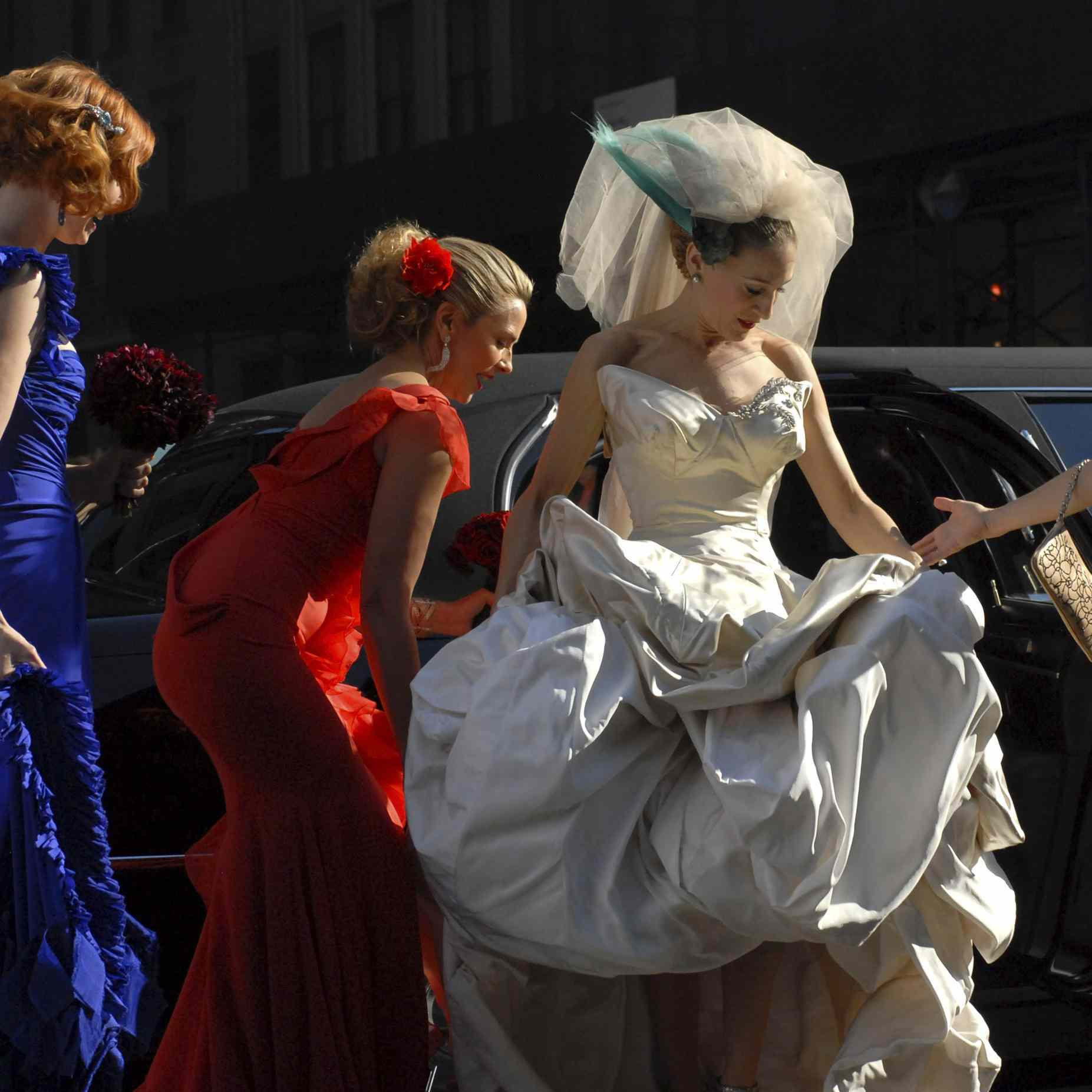 Carrie Bradshaw's Vivienne Westwood Wedding Dress Is On