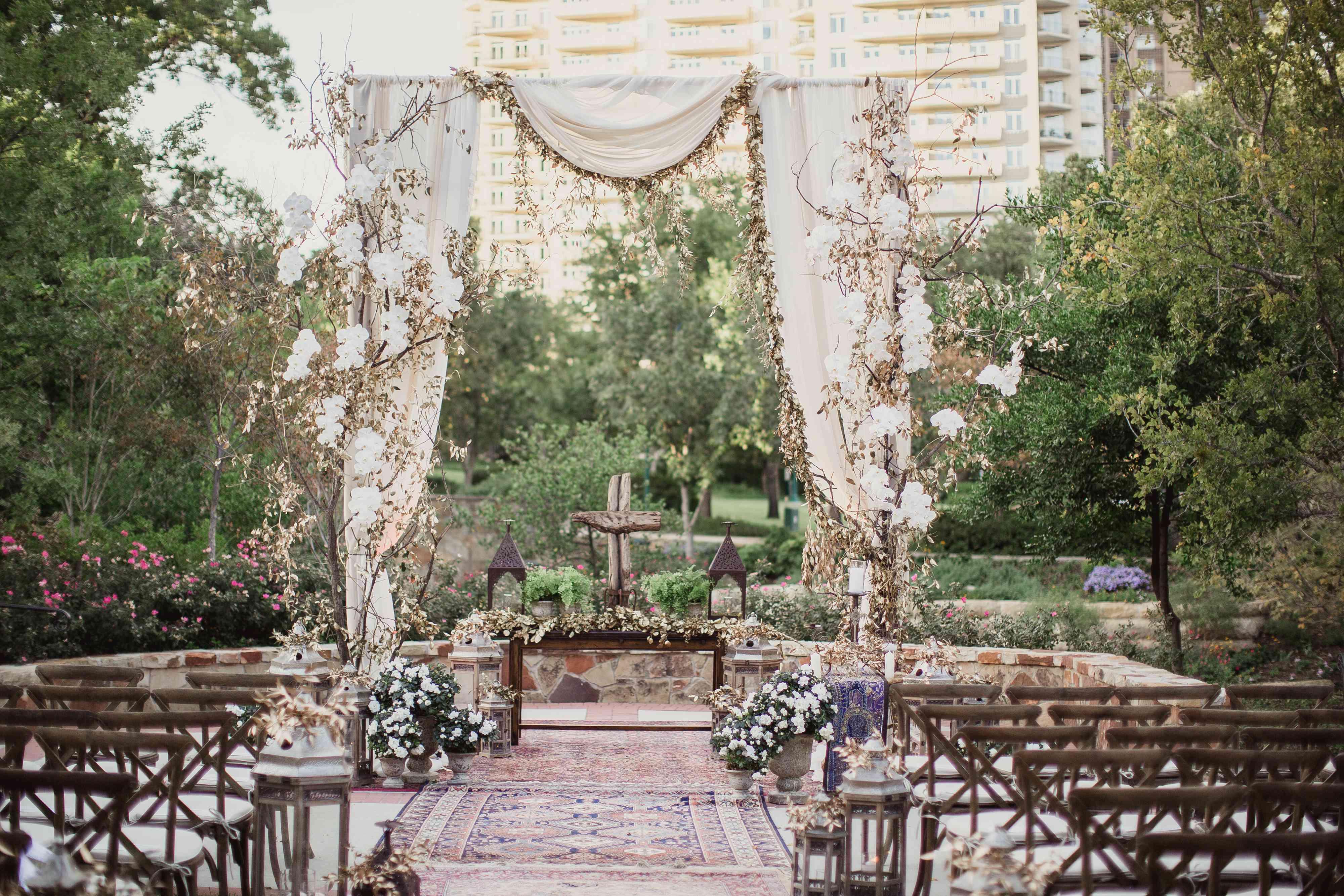 Whimsical garden wedding ceremony