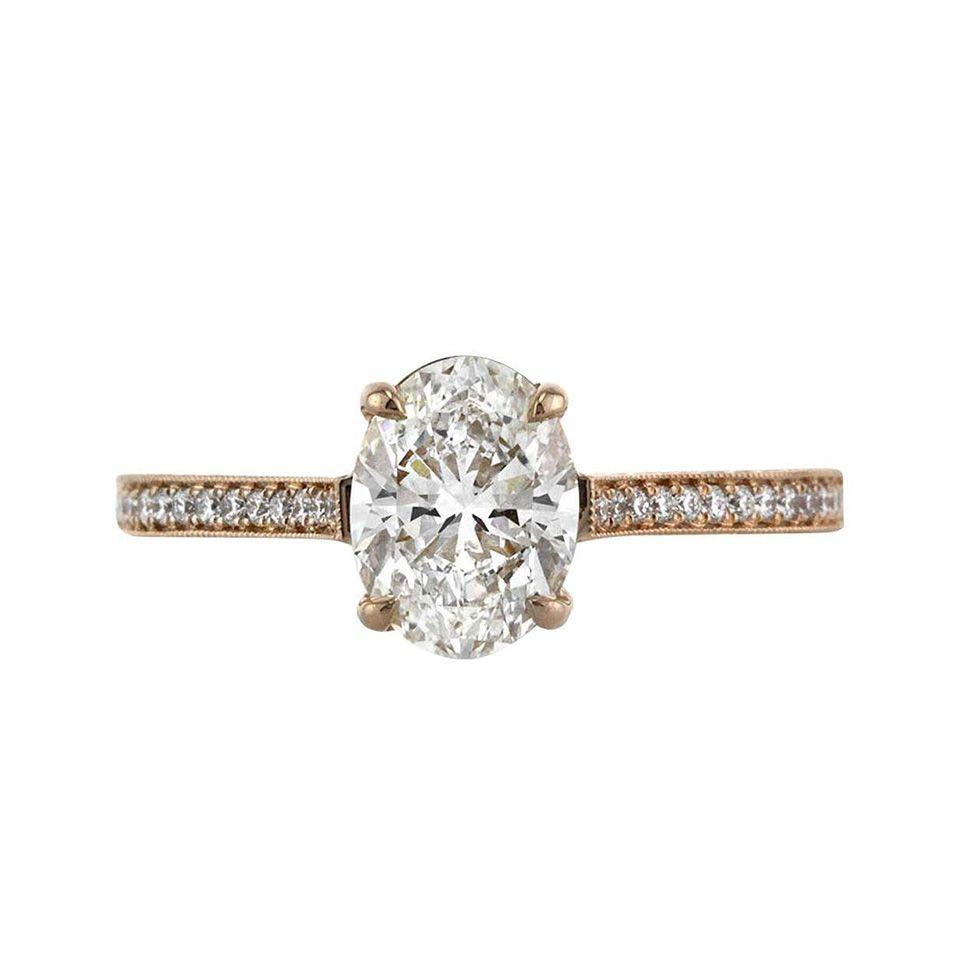 Mark Broumand 1.45 Carat Oval Cut Diamond Engagement Ring