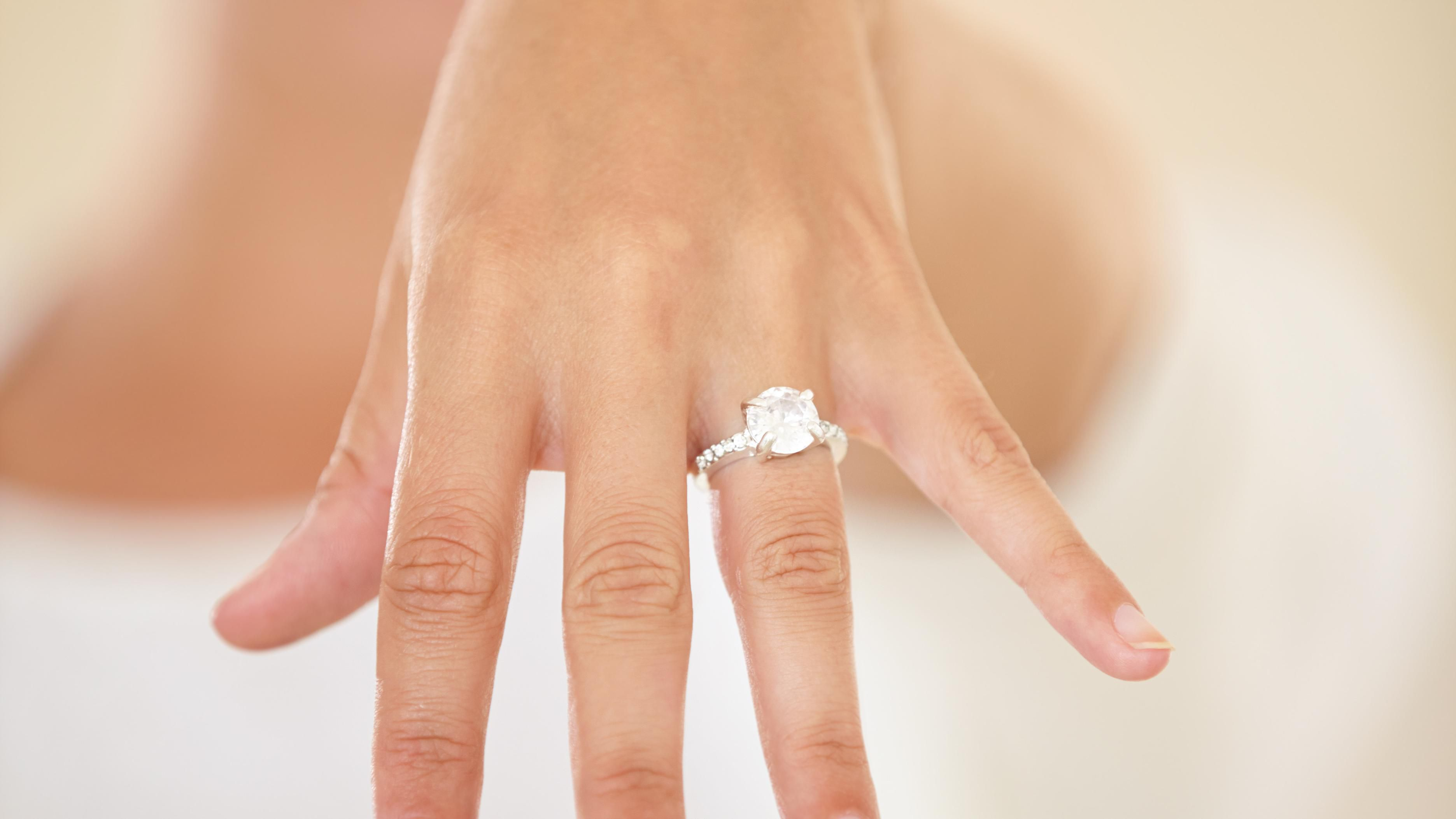 Alternative Ways To Wear Your Engagement Ring And Wedding Band