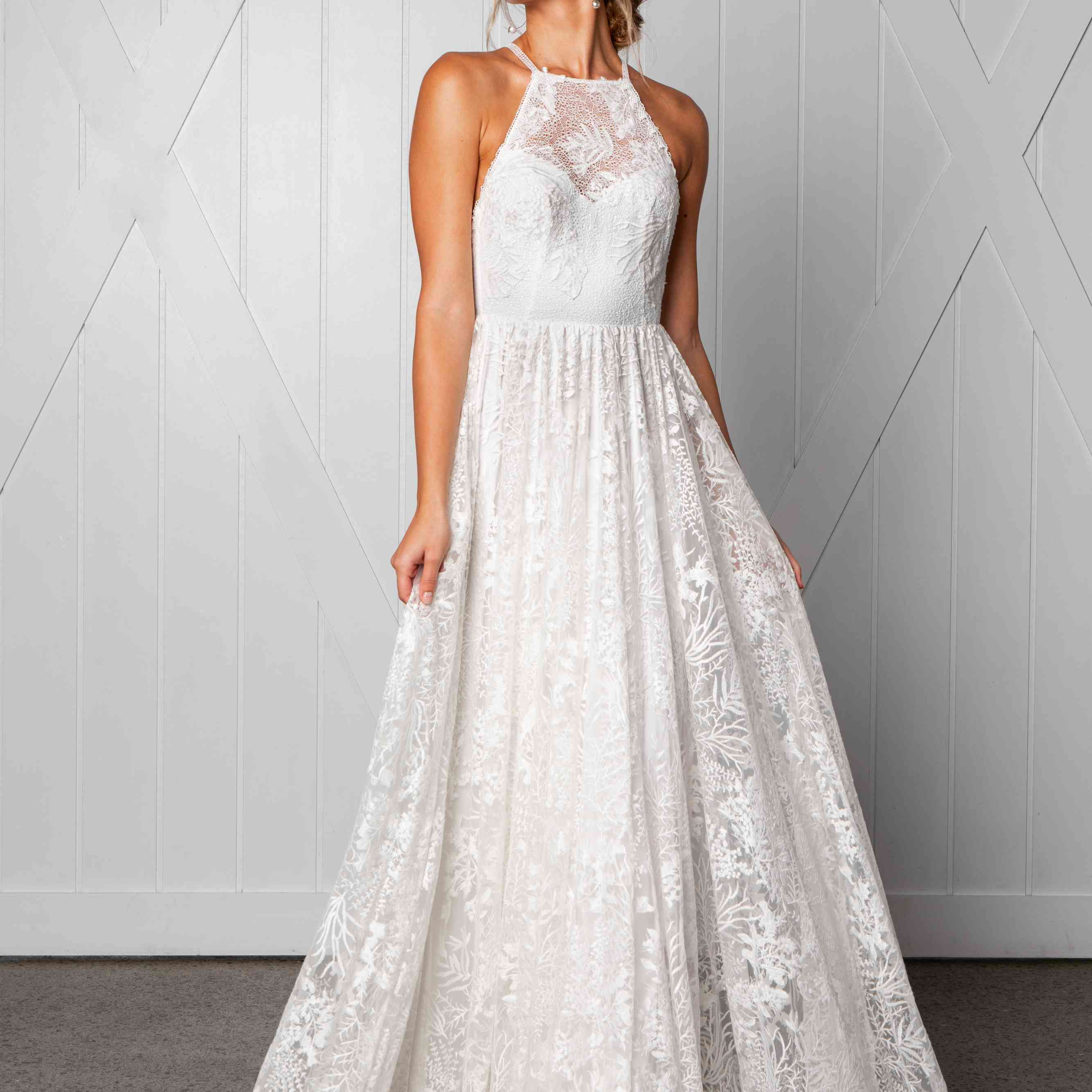 Harri halter wedding dress