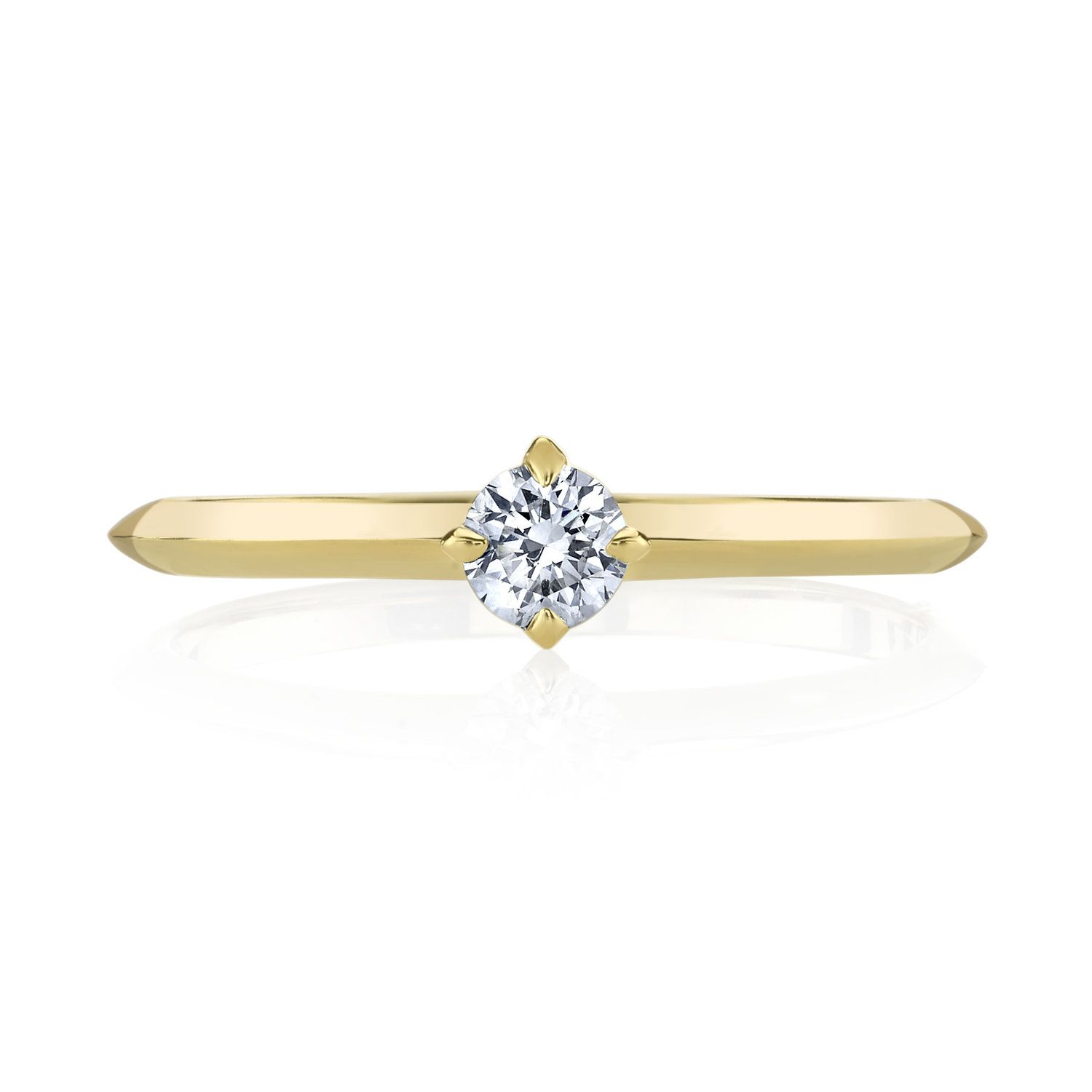 Simple solitaire diamond engagement ring