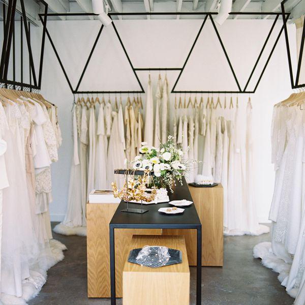 A view of Loho Bride, a bridal salon in LA and San Francisco, California.