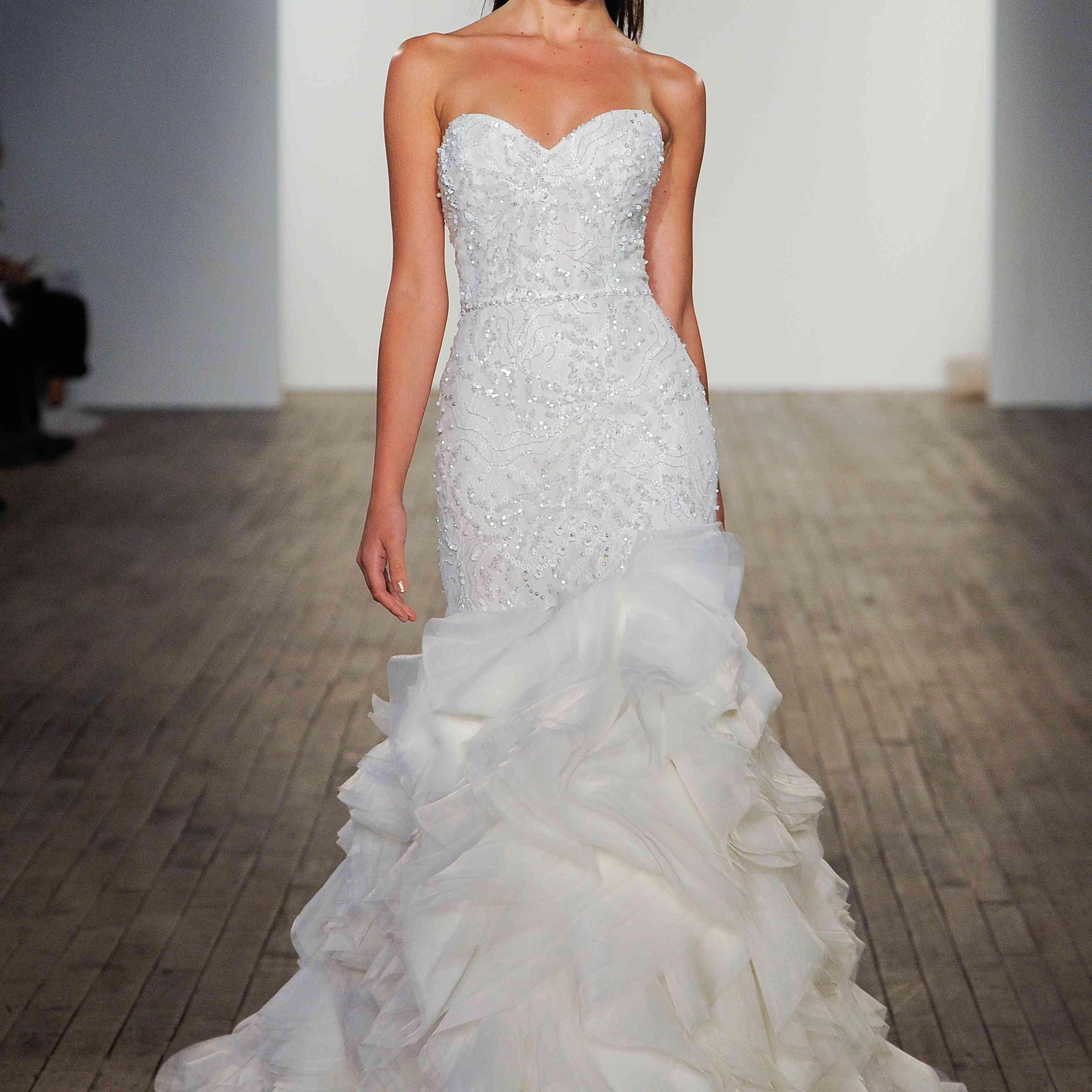 Stephanie strapless mermaid wedding dress