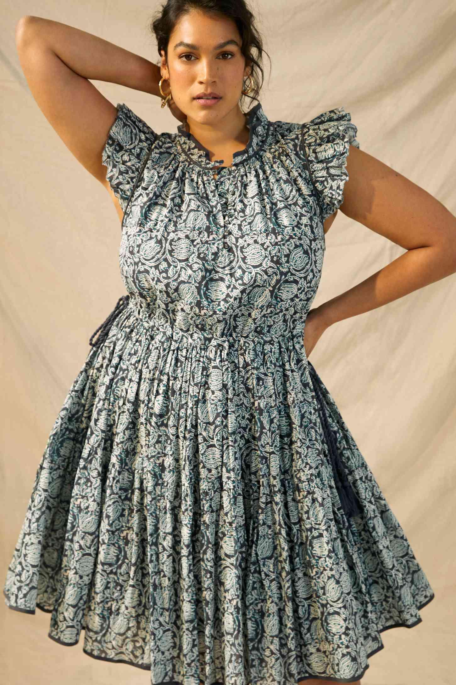 Let Me Be Ivy Ruffled Mini Dress $188