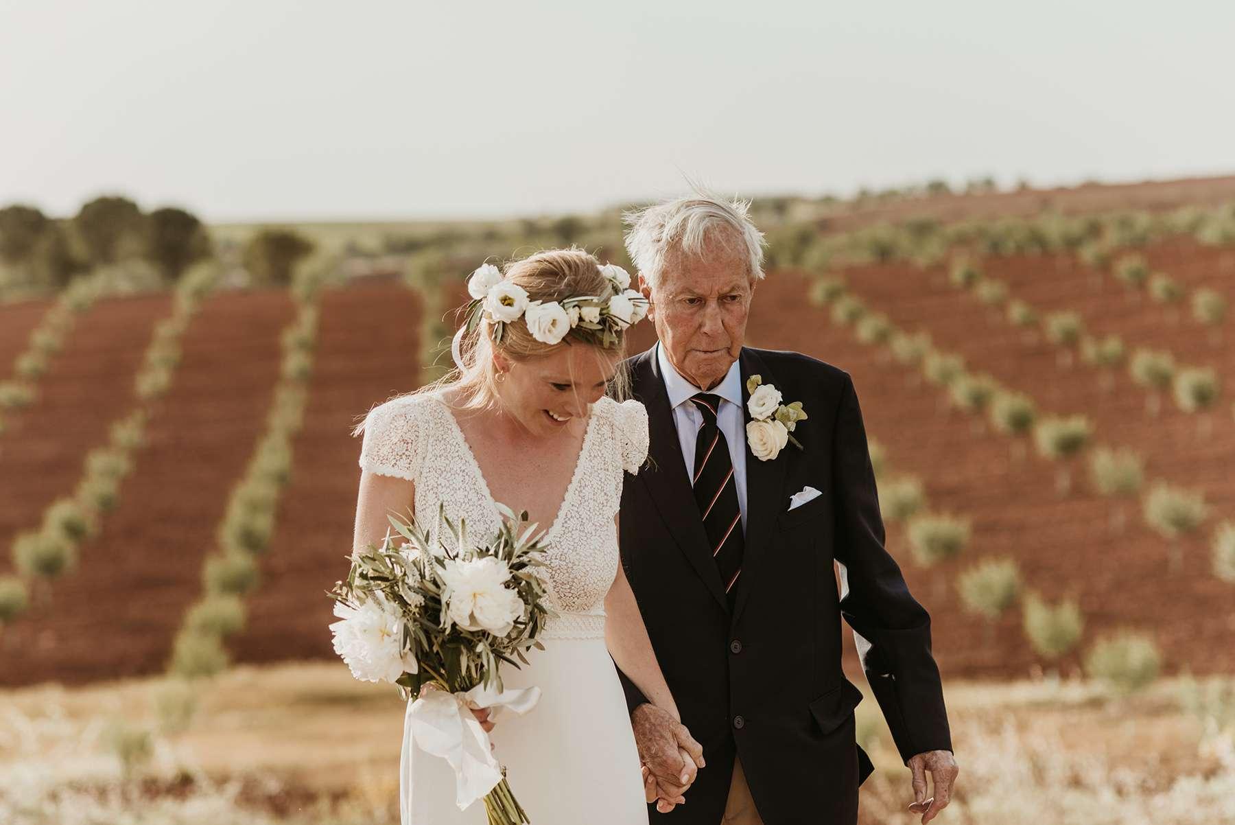 <p>Bride with father of bride</p><br><br>