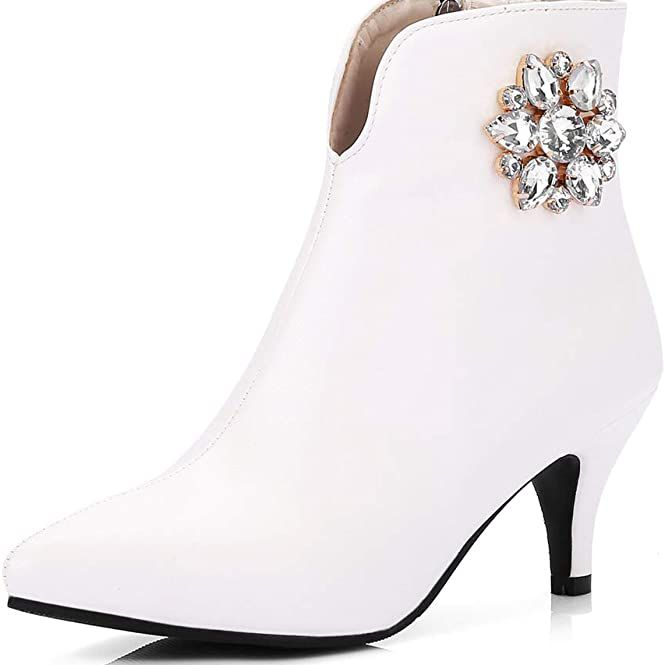 Mioke Pointed Toe Dressy Ankle Booties