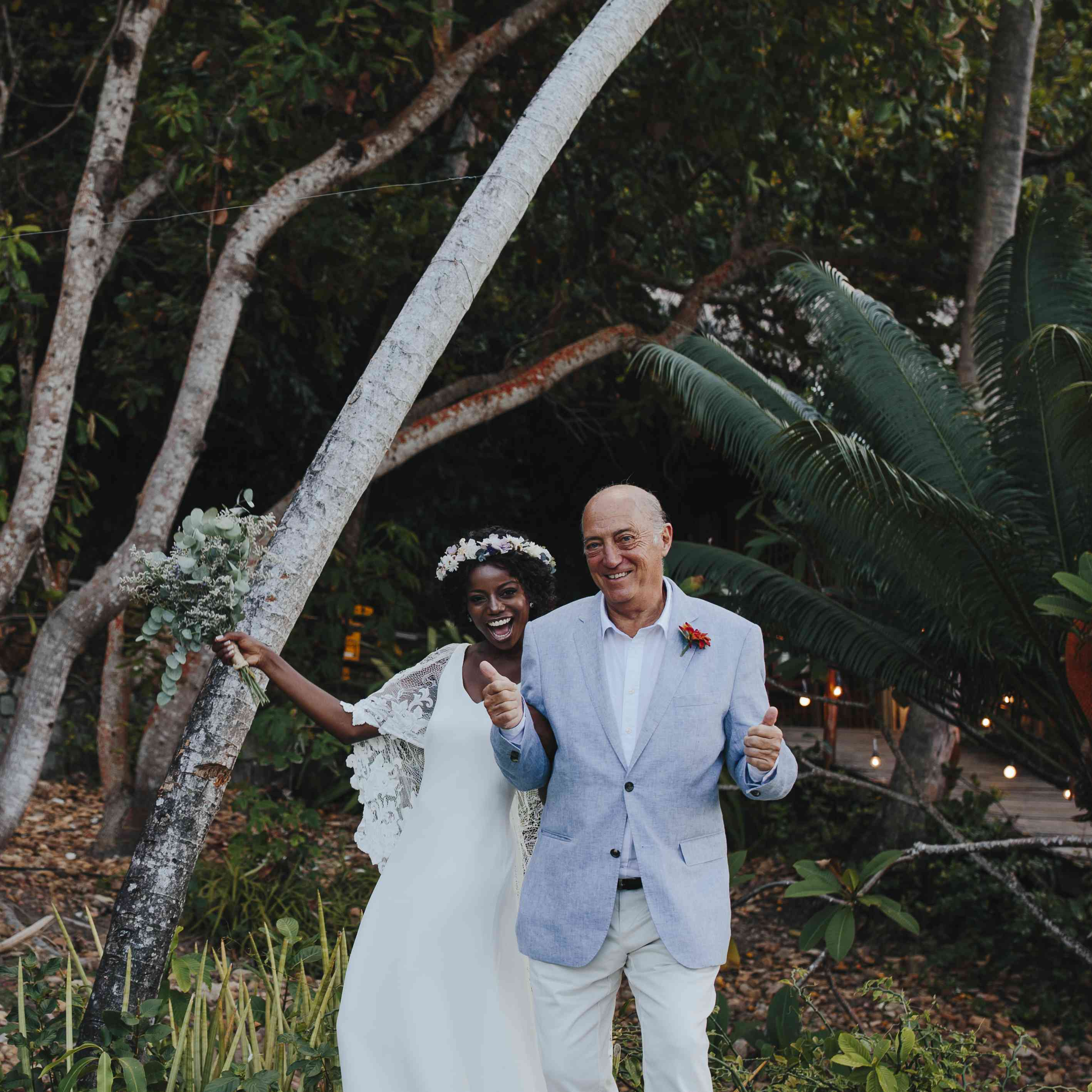 <p>bride and groom's father</p><br><br>