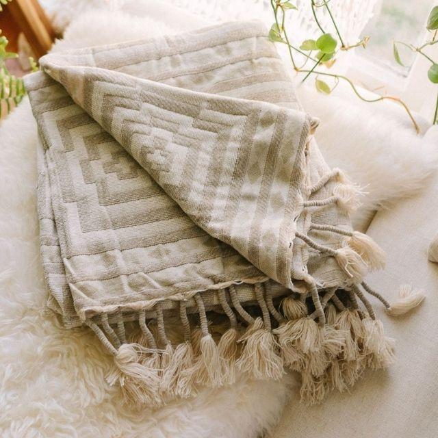 Hypnotic Throw Blanket by Justina Blakeney