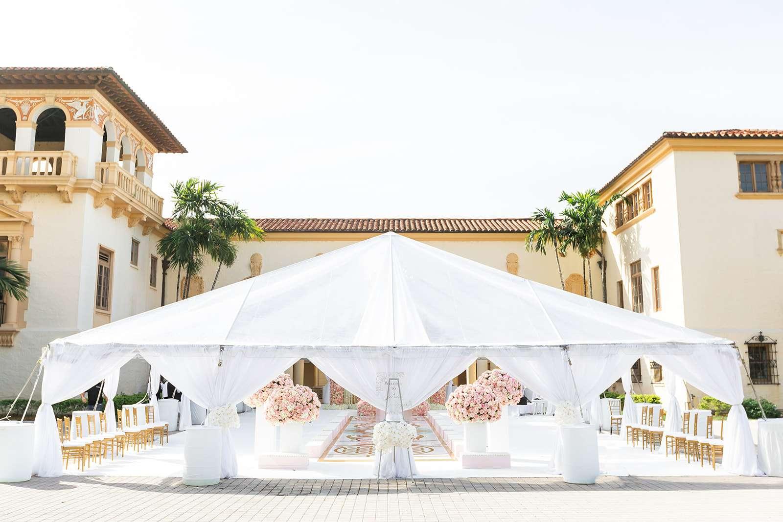 Wedding venue tent