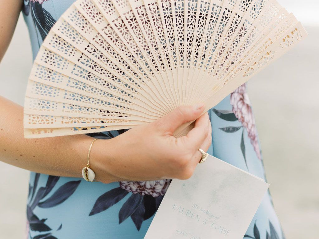 18 Wedding Program Fans for a Summer Ceremony