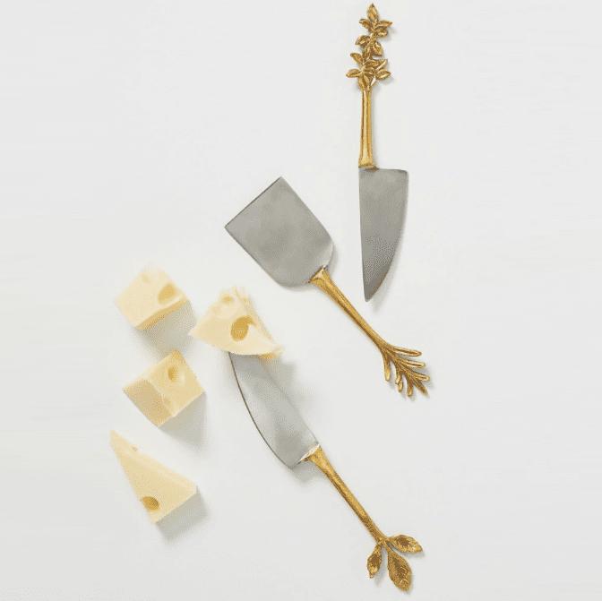 Anthropologie Herbiflora Cheese Knives, Set of 3