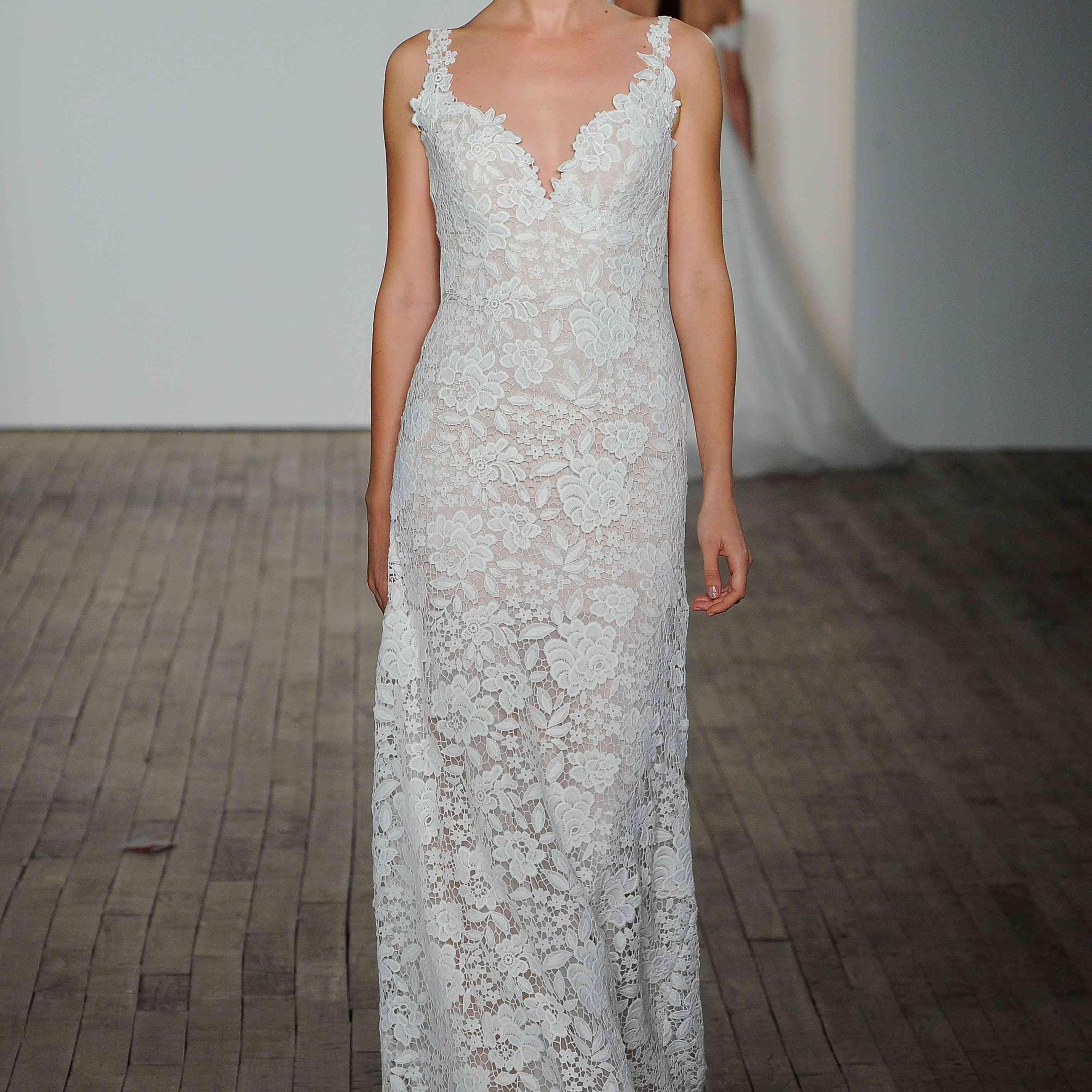 Atlas lace wedding dress