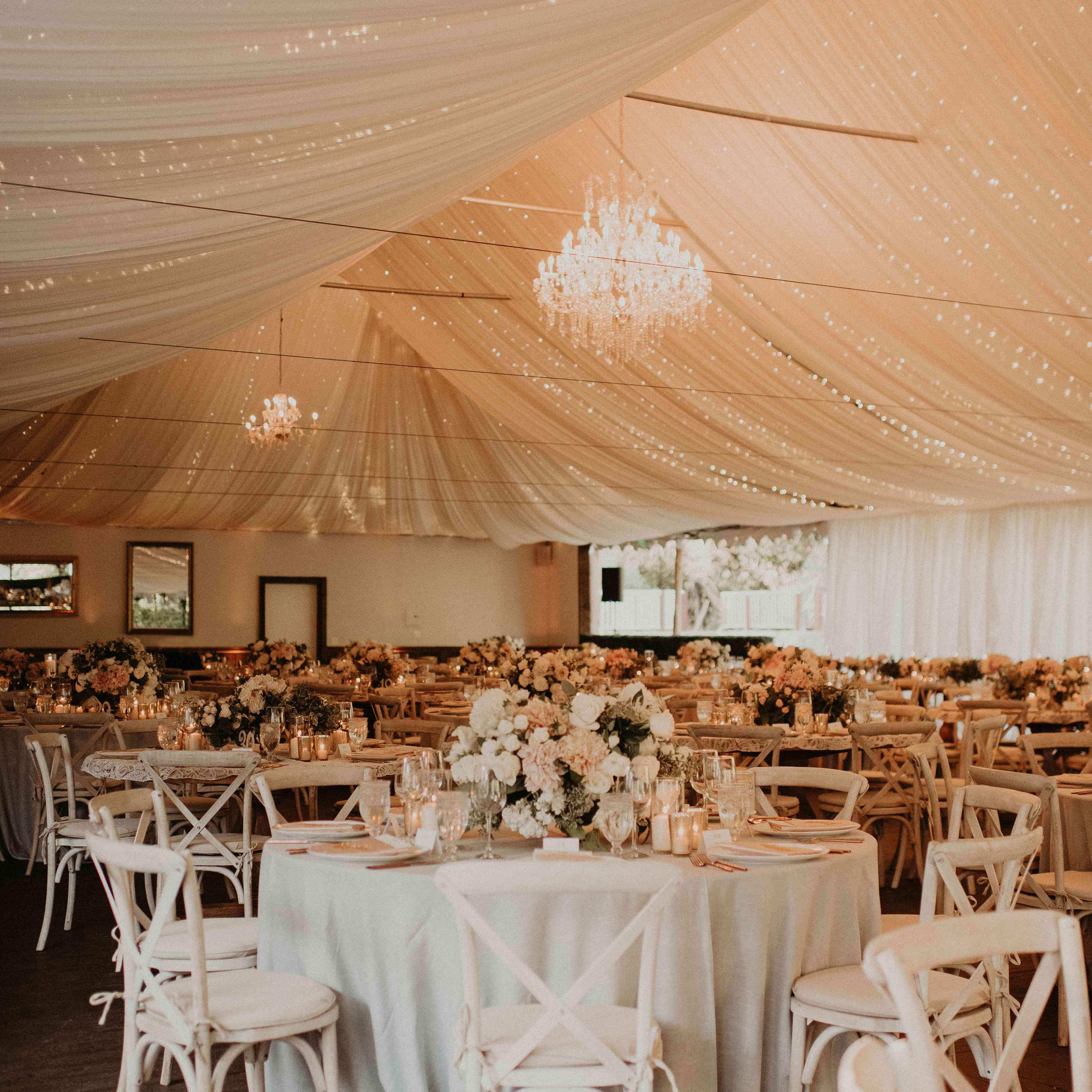 Baker Mayfield Wedding, tent