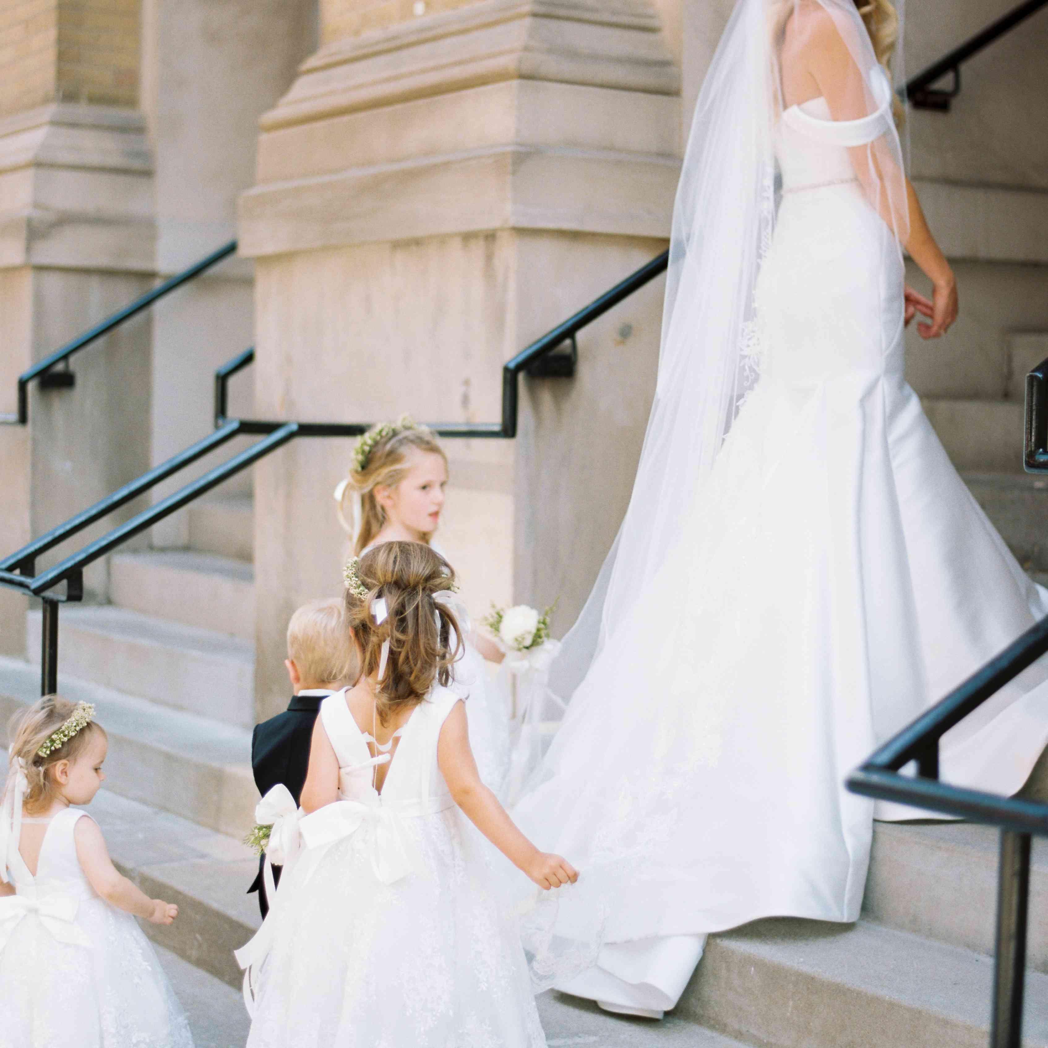 <p>Bride walking into church</p><br><br>