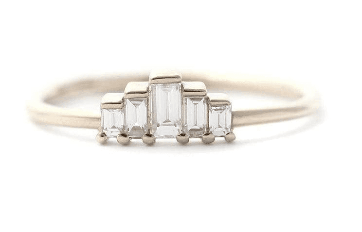 Gradient Baguette Diamond Ring