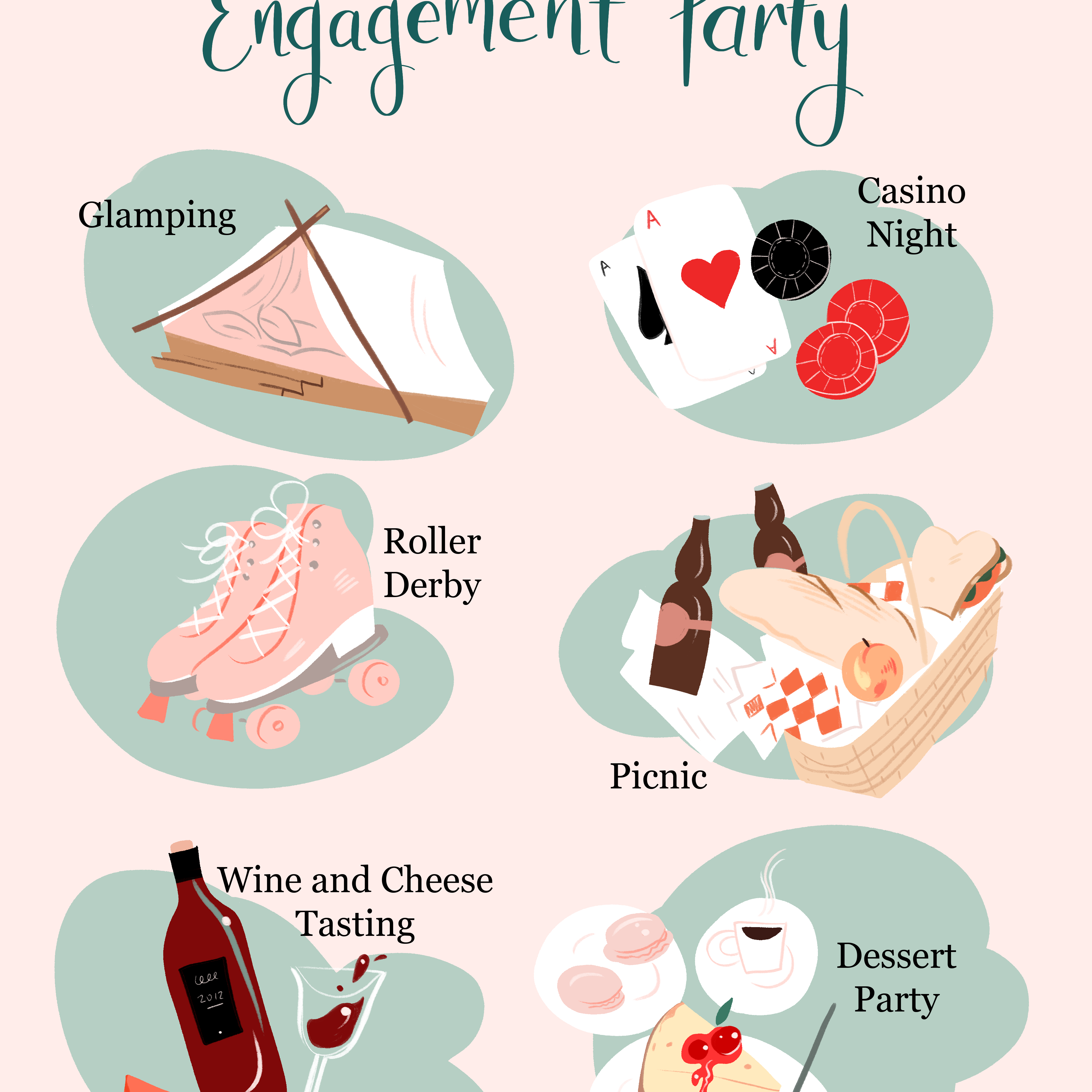 Wedding Planner Names Ideas: 55 Unique Engagement Party Ideas To Kick Off Your Wedding