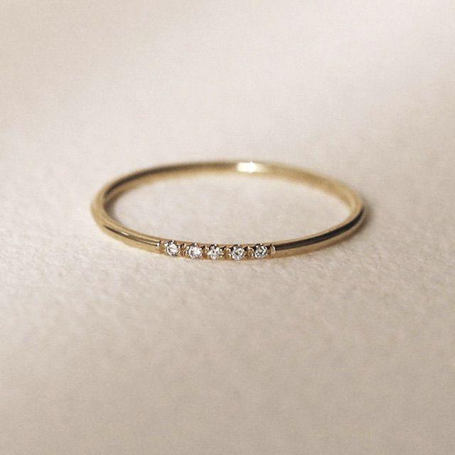 JSVConcepts Minimalist Wedding Band, Diamond Wedding Ring, Diamond Wedding Band, Diamond Engagement Band, 1.2mm Full Round Wedding Band, Engagement Ring