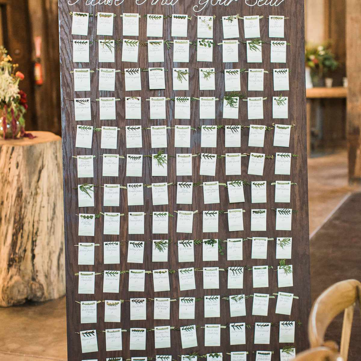 <p>Wood seating chart</p><br><br>