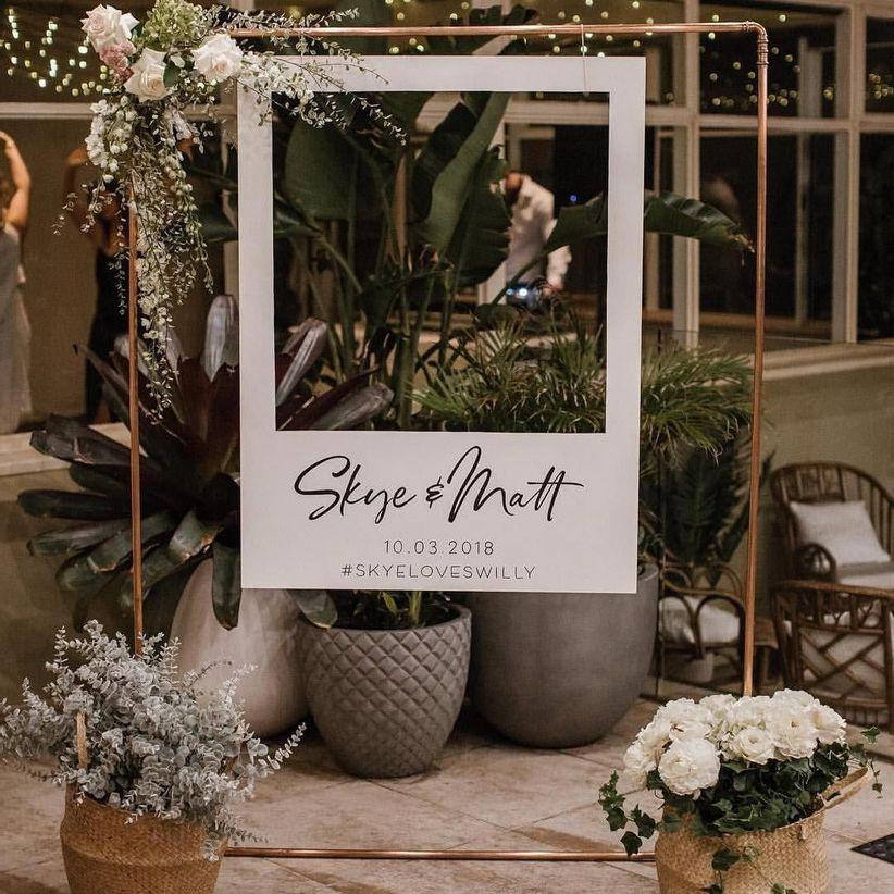 wedding hashtag sign Photo Booth