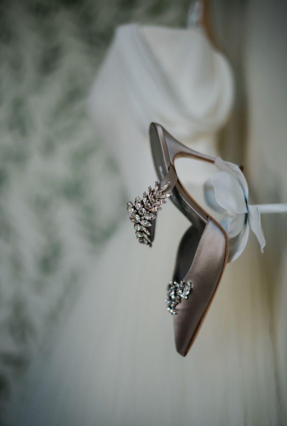 Crystal-embellished Manolo Blahnik Heels