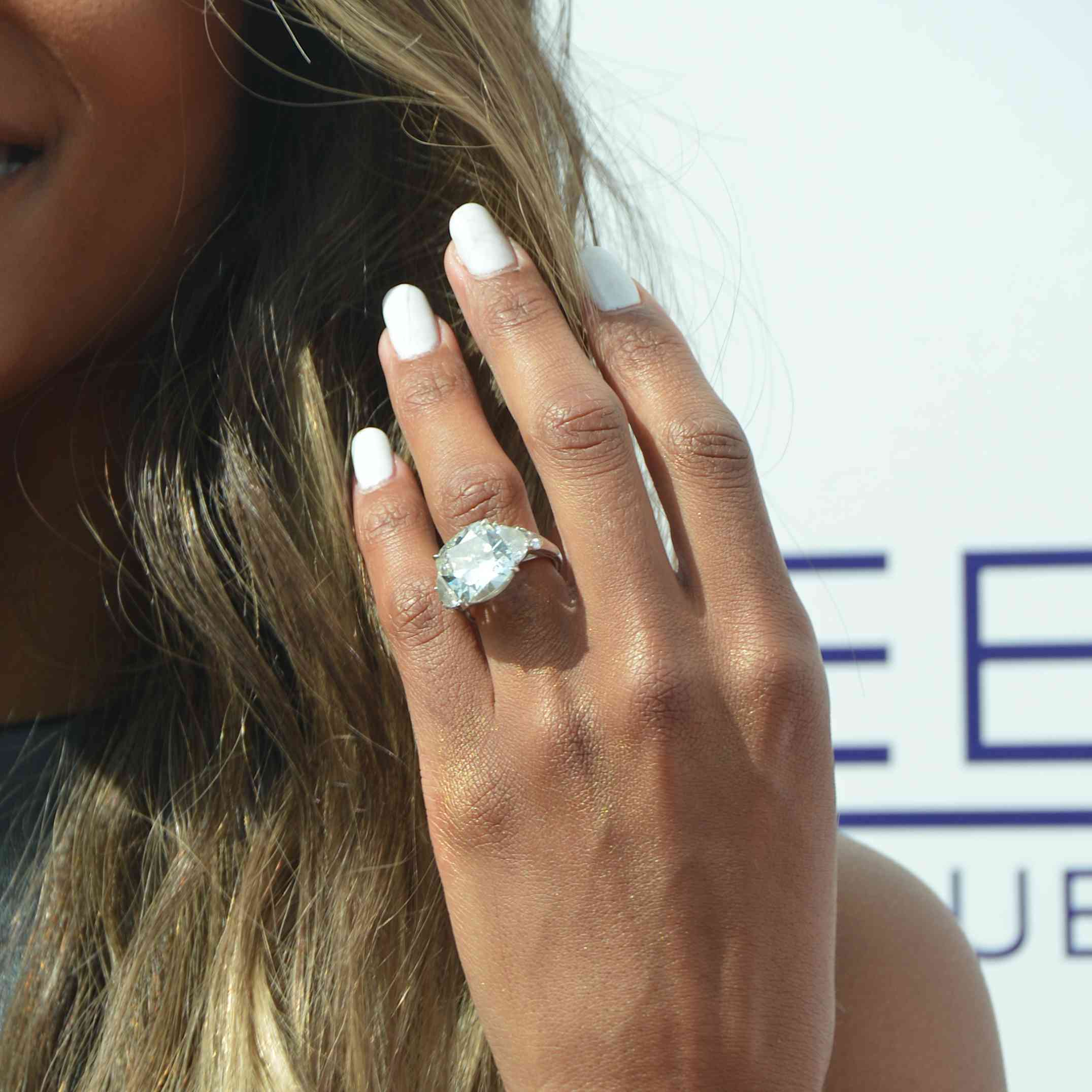 LAS VEGAS, NV - MARCH 19: Recording artist Ciara, ring detail, arrives at the season grand opening of the Marquee Dayclub at The Cosmopolitan of Las Vegas on March 19, 2016 in Las Vegas, Nevada. (Photo by Mindy Small/FilmMagic)