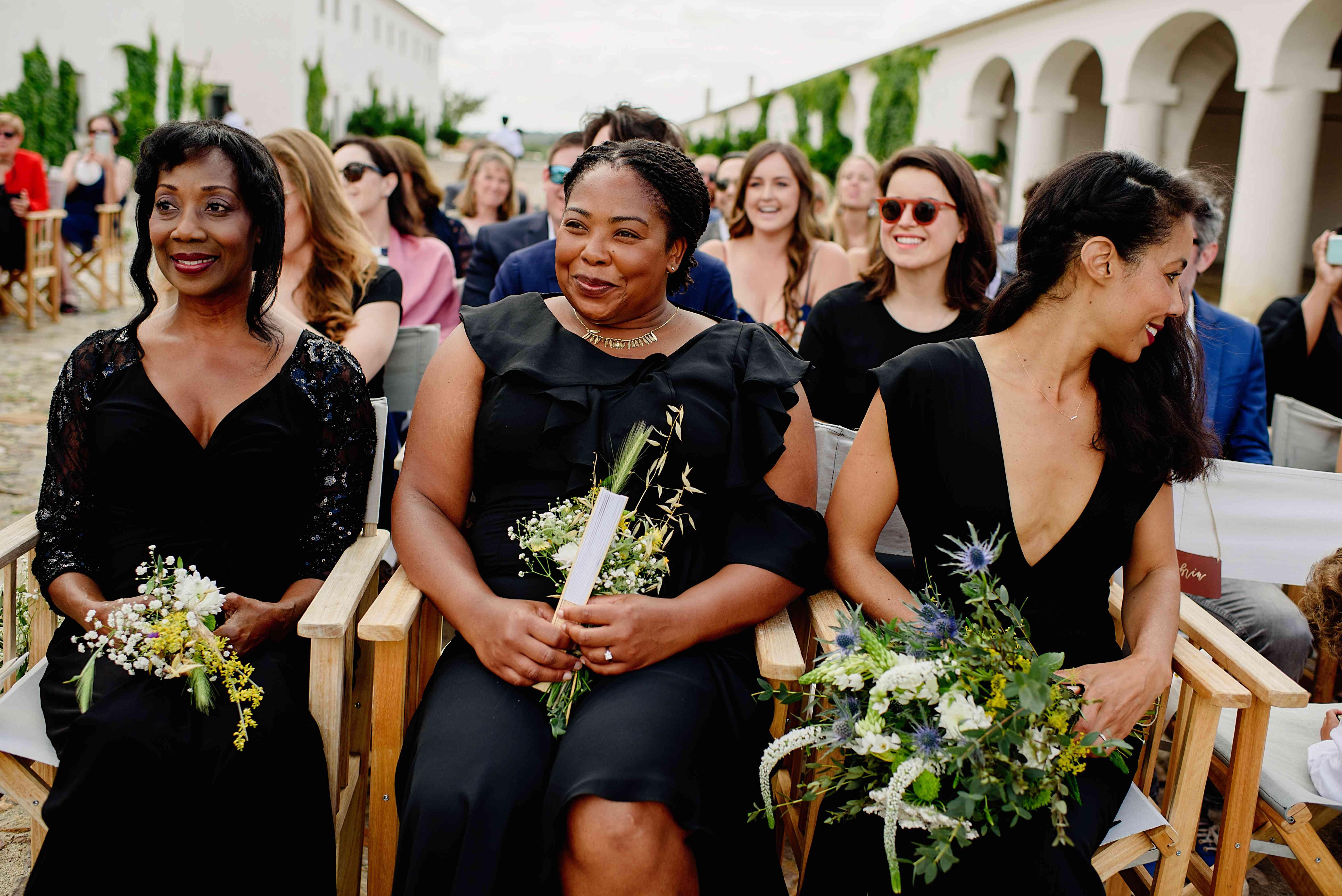 <p>Bridesmaids at ceremony</p><br><br>