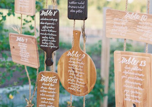 Wooden Serving Board Seating Chart