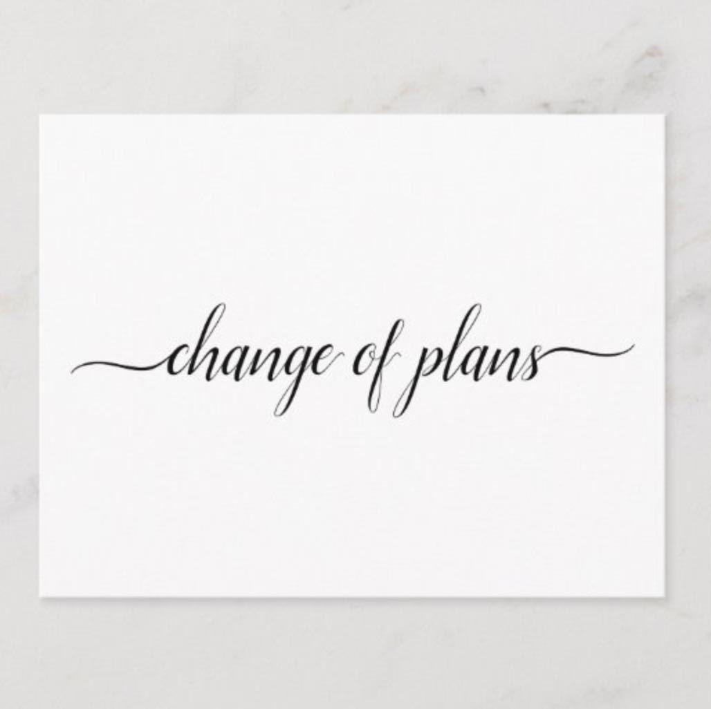 zazzle change of plans card