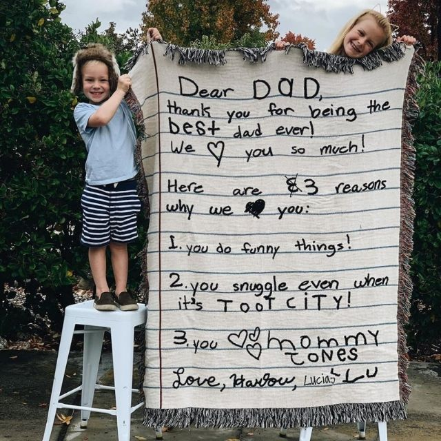 FrankiePrintCo Personalized Love Letter Blanket