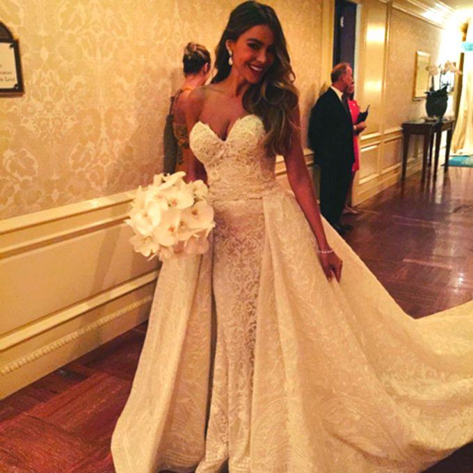 Sofia Vergara marries Joe Manganiello at The Breakers Resort in a Zuhair Murad gown, 2015