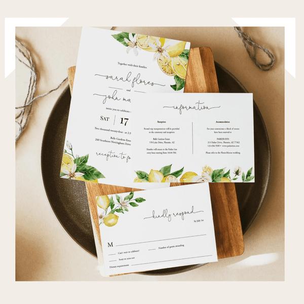 diy wedding invitiations
