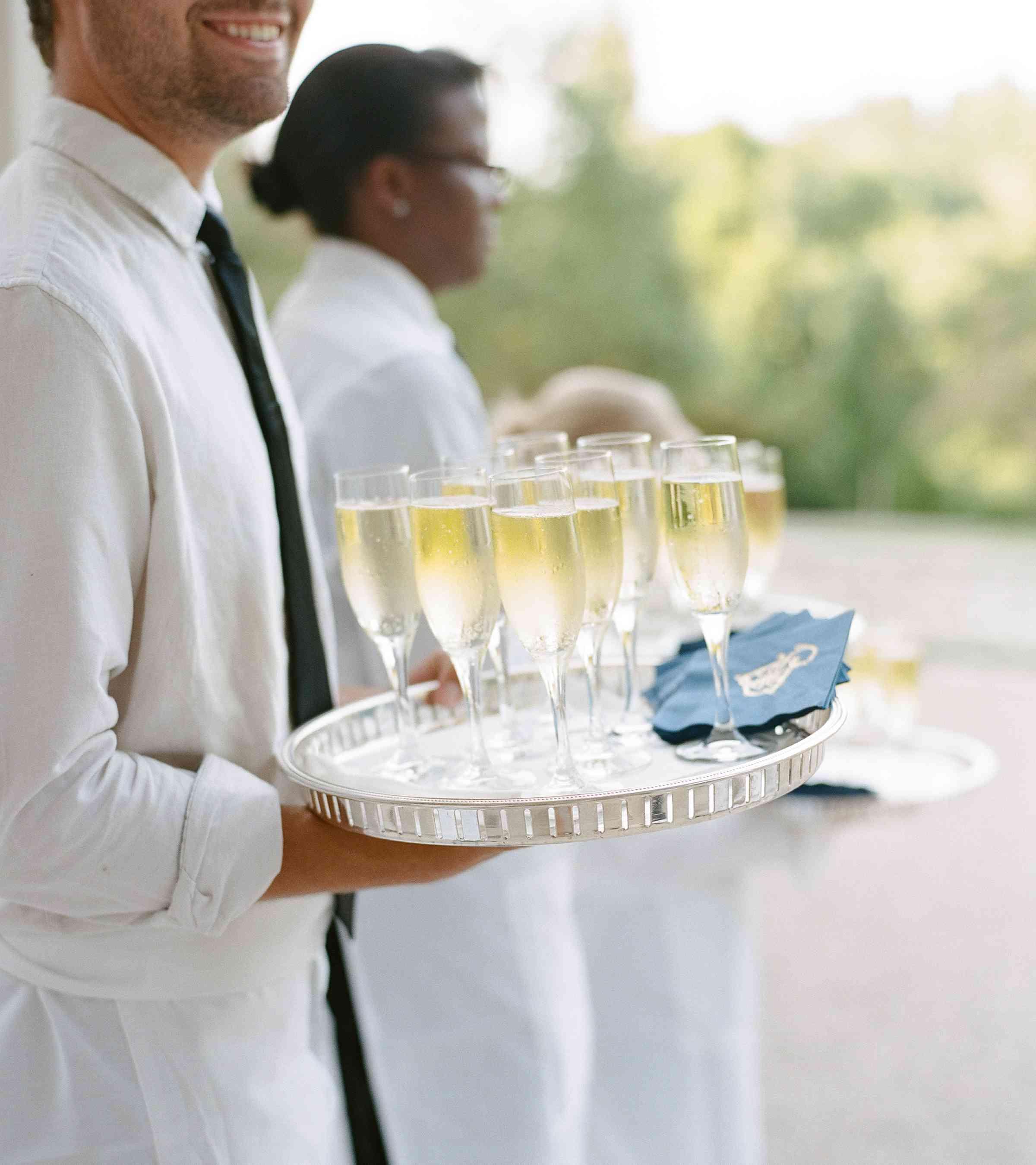 A tray of bubbly