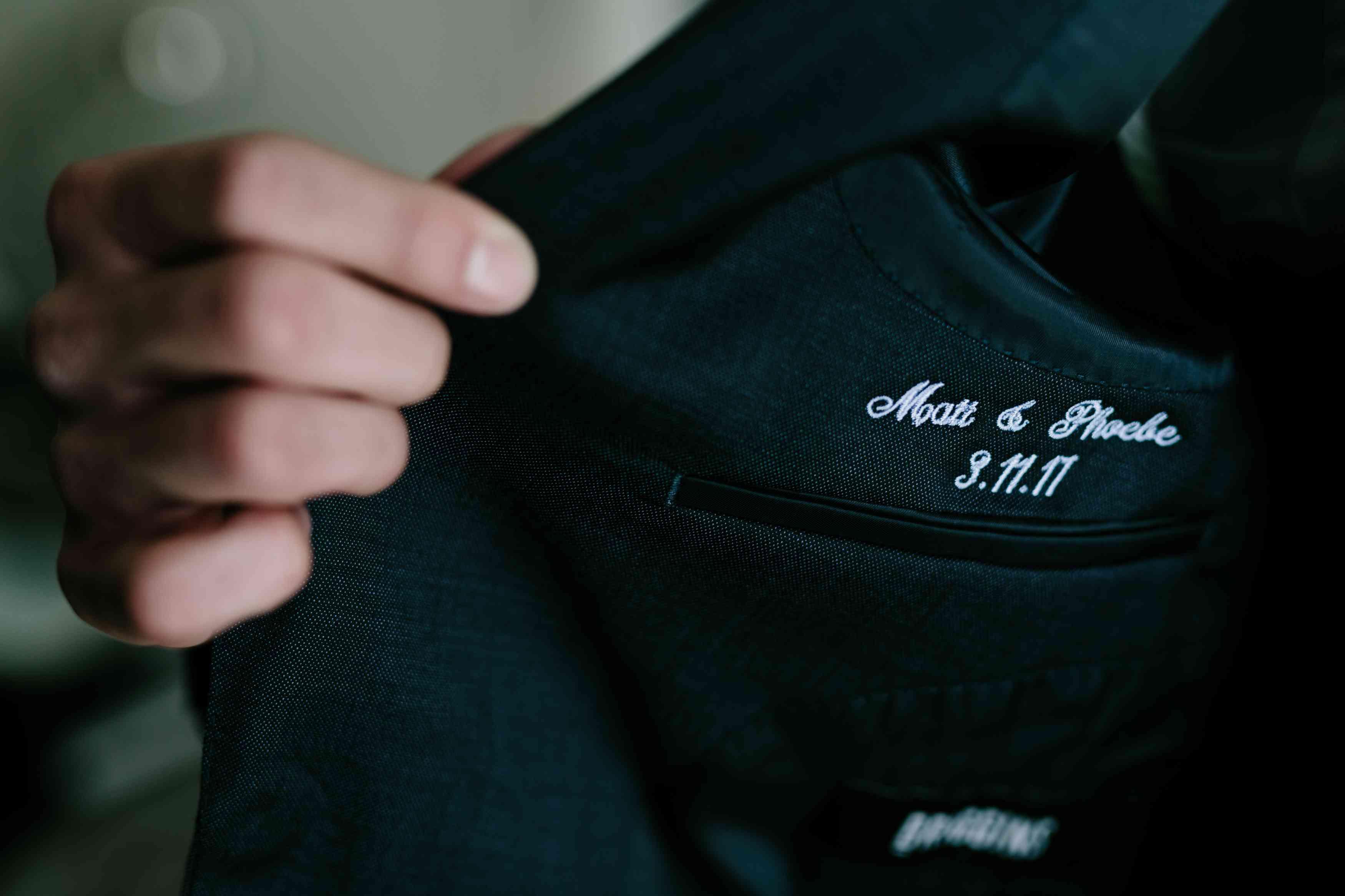 <p>personalized suit</p><br><br>