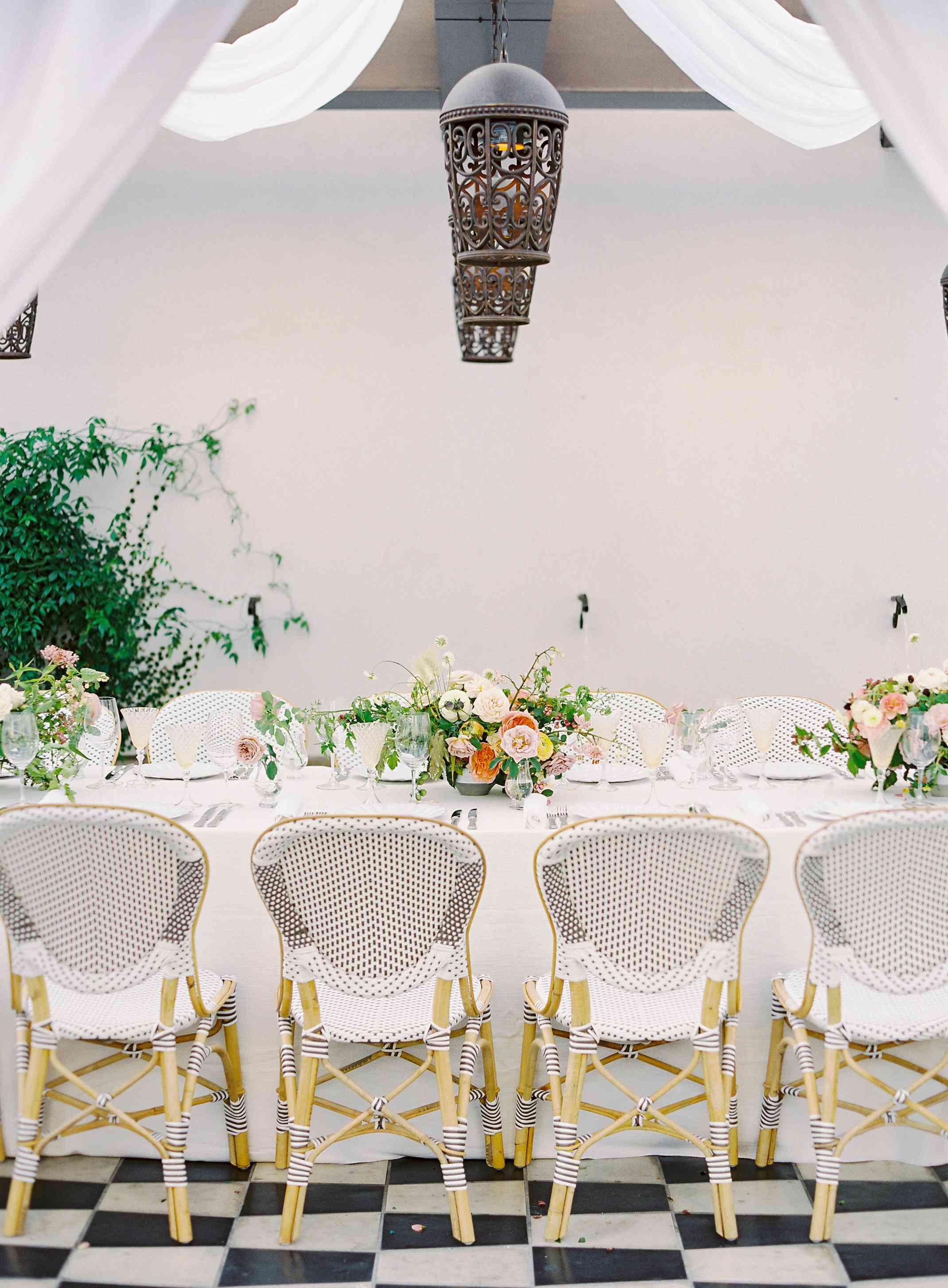 Tablescape at L.A. wedding reception
