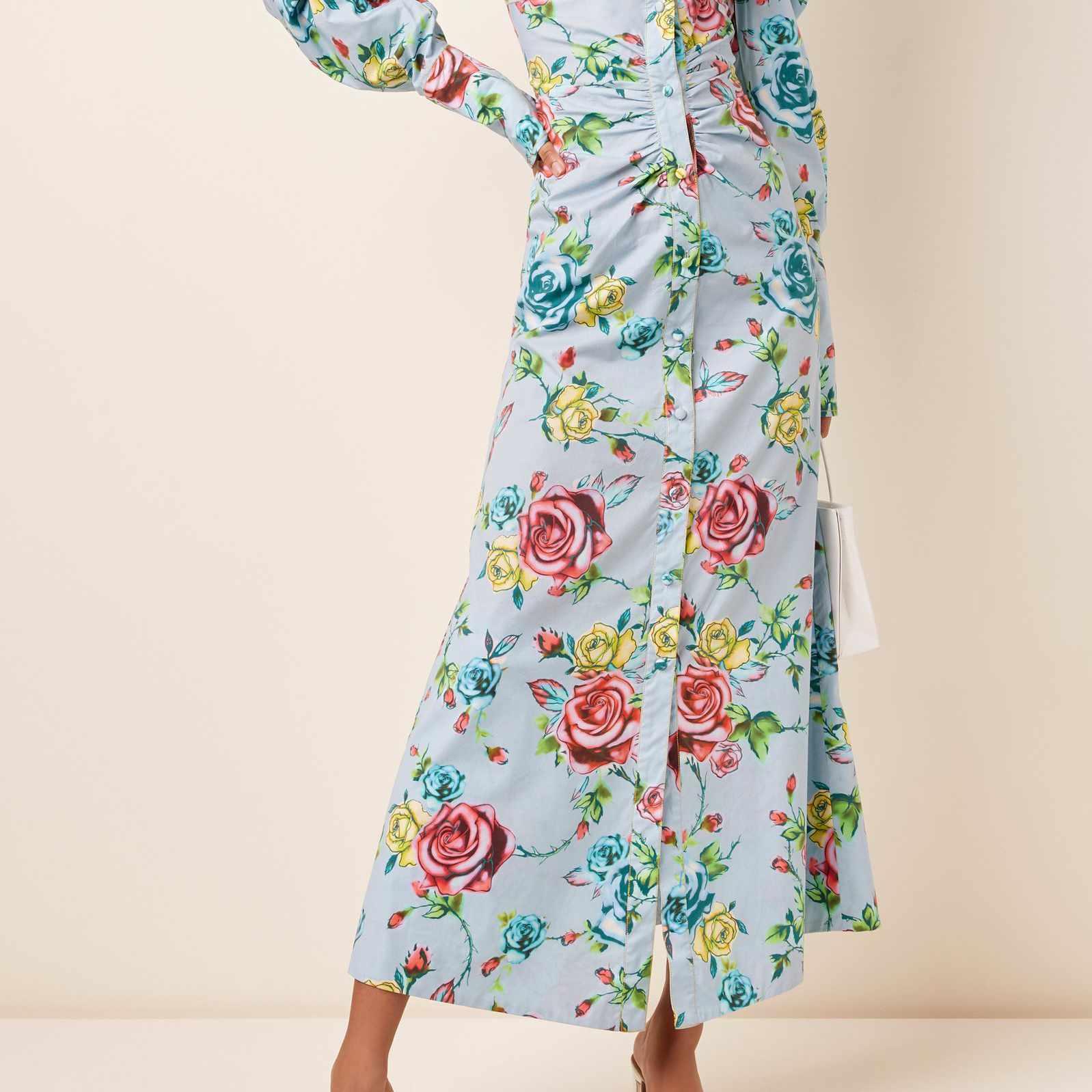 Prabal Gurung Floral-Print Cotton-Blend Shirt Dress, $1,295