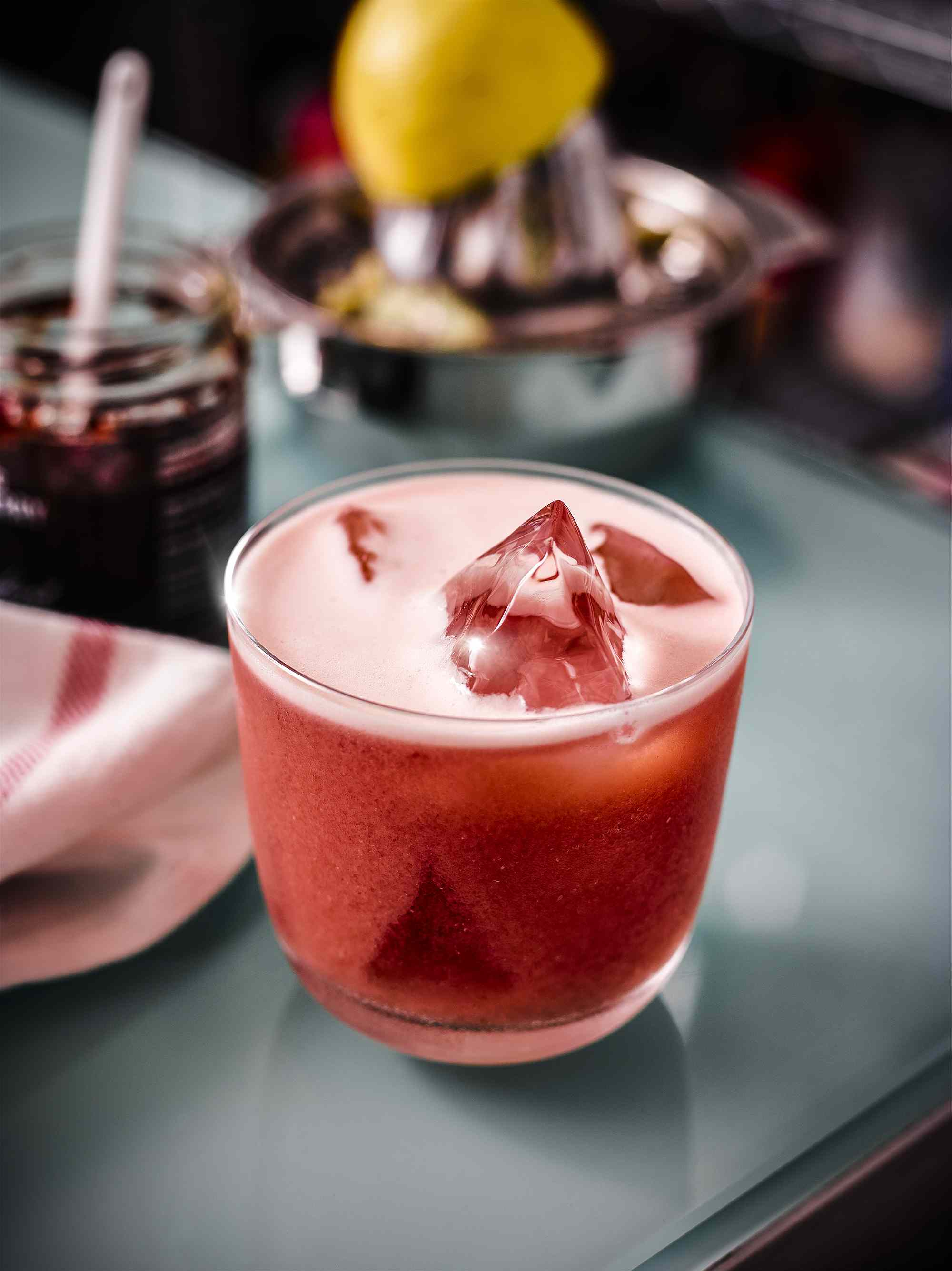 alcohol, signature cocktails, drink, glass, strawberry, ginger, scotch