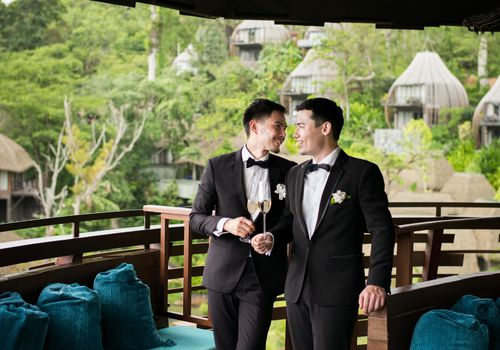 Gay wedding at Keemala resort in Phuket Thailand